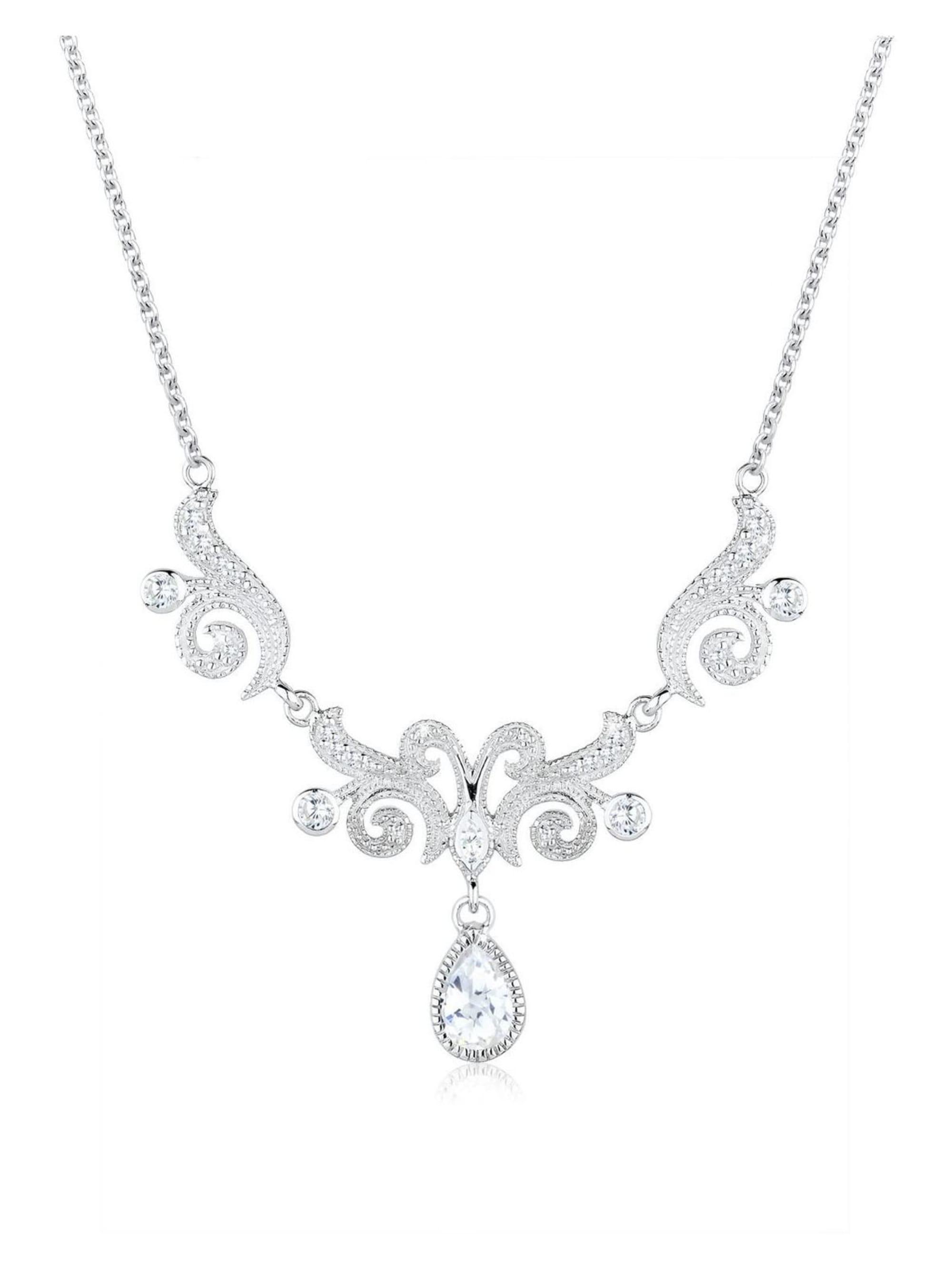 Elli Premium Elli Premium Halskette Collier Statementkette Zirkonia 925 Silber 64PkM
