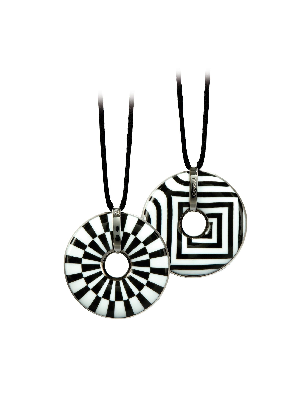 Goebel Goebel Halskette Kette Rad / Streifen Mit Swarovski(R) Kristallen T0VKO