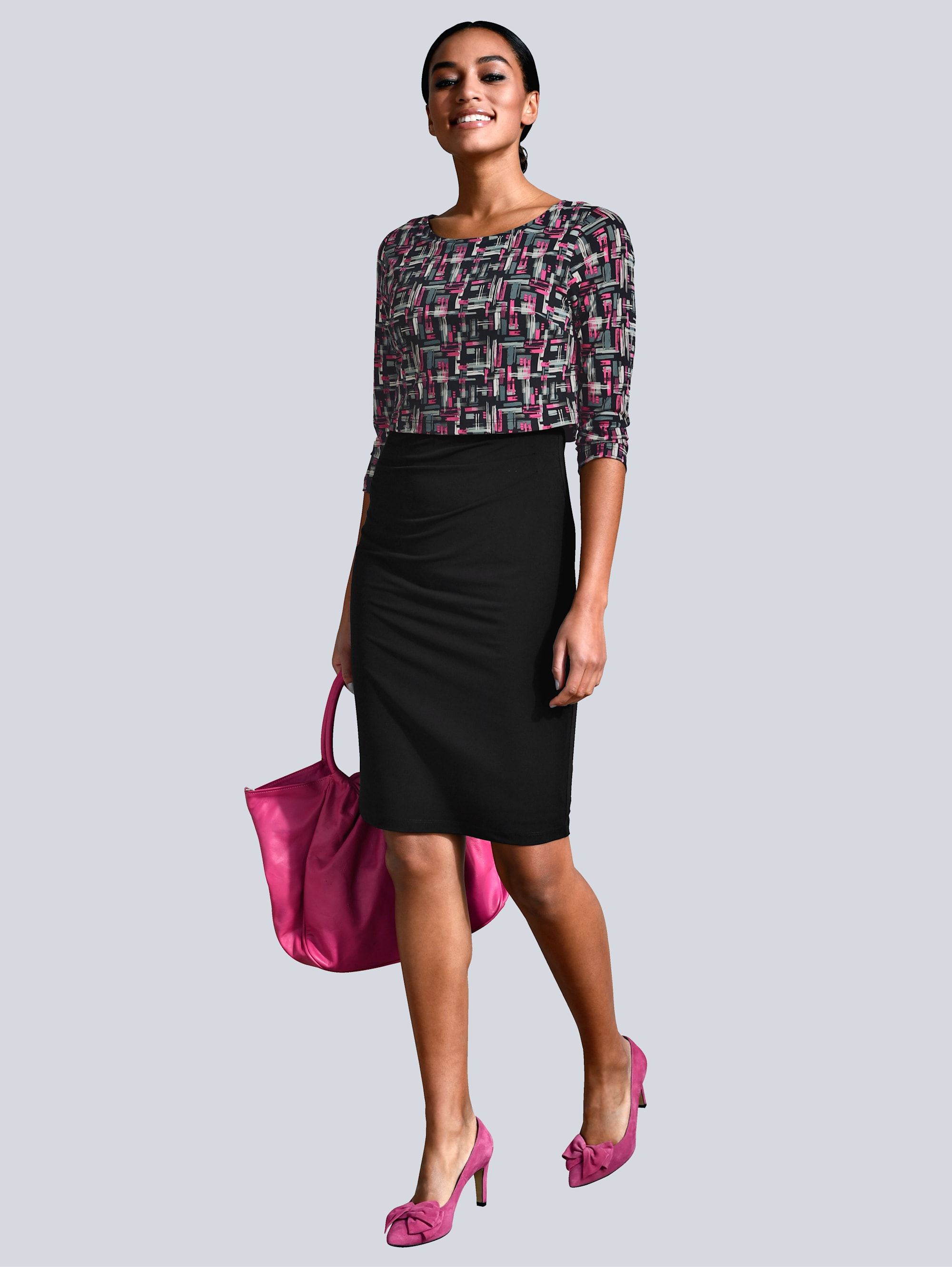 Alba Moda Kleid mit exklusivem Alba Moda Druck 1h7lT piHEB
