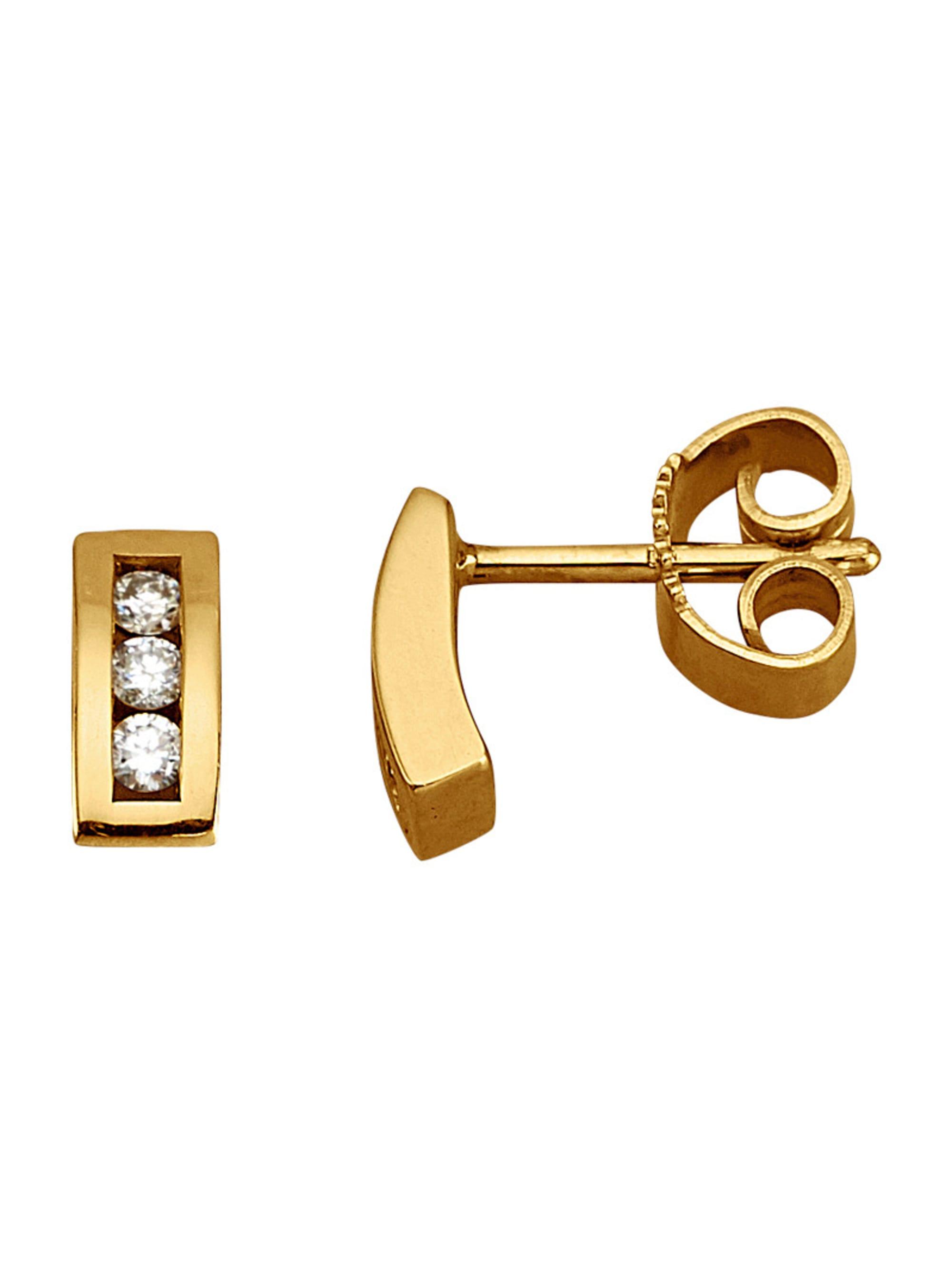 Diemer Diamant Ohrstecker in Gelbgold 585 LPJ5W
