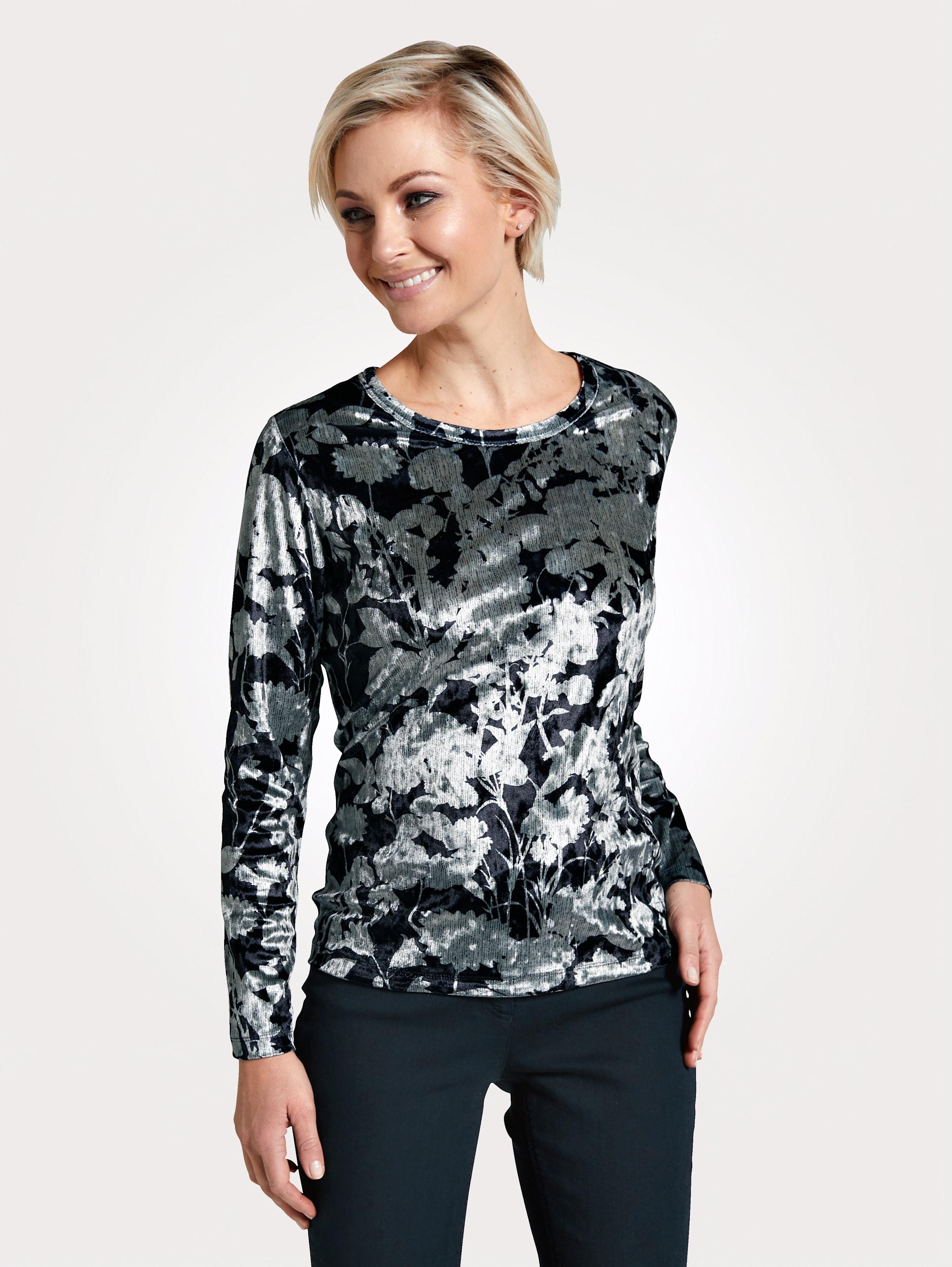 MONA Shirt aus feiner Samt-Qualität l6DuJ 4bGAC
