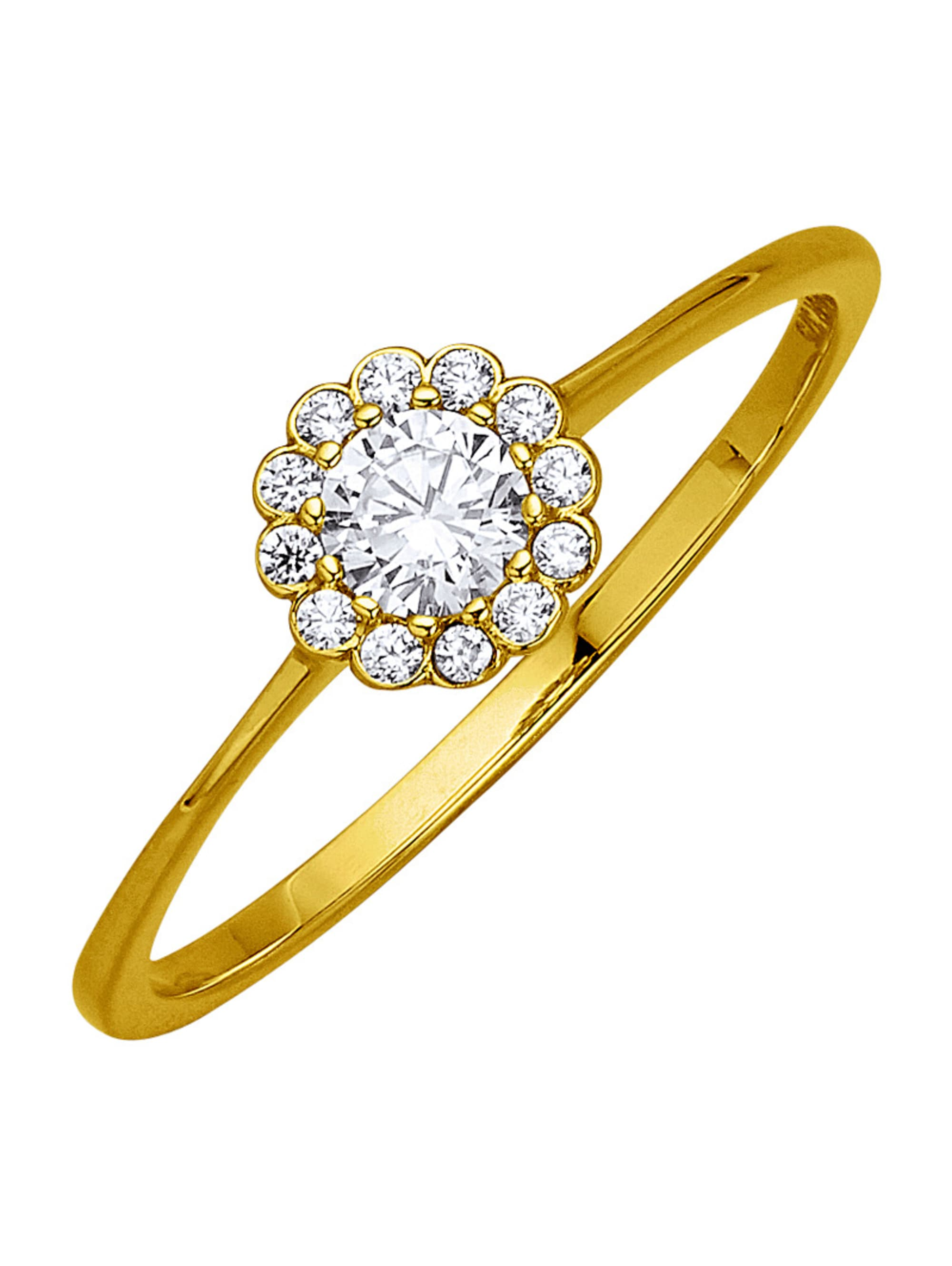 Damenring Gelbgold 375 tSVyN