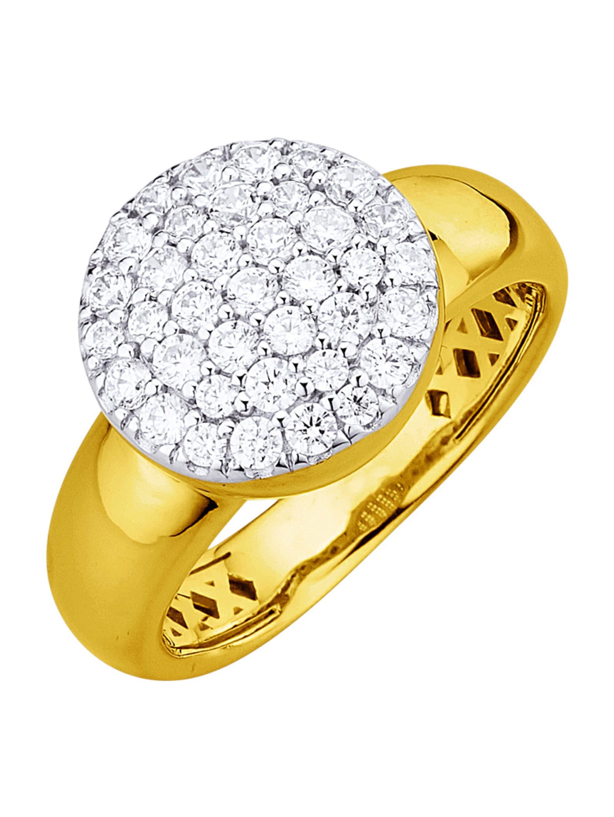 Diemer Diamant Damenring mit Brillanten q9Gl2