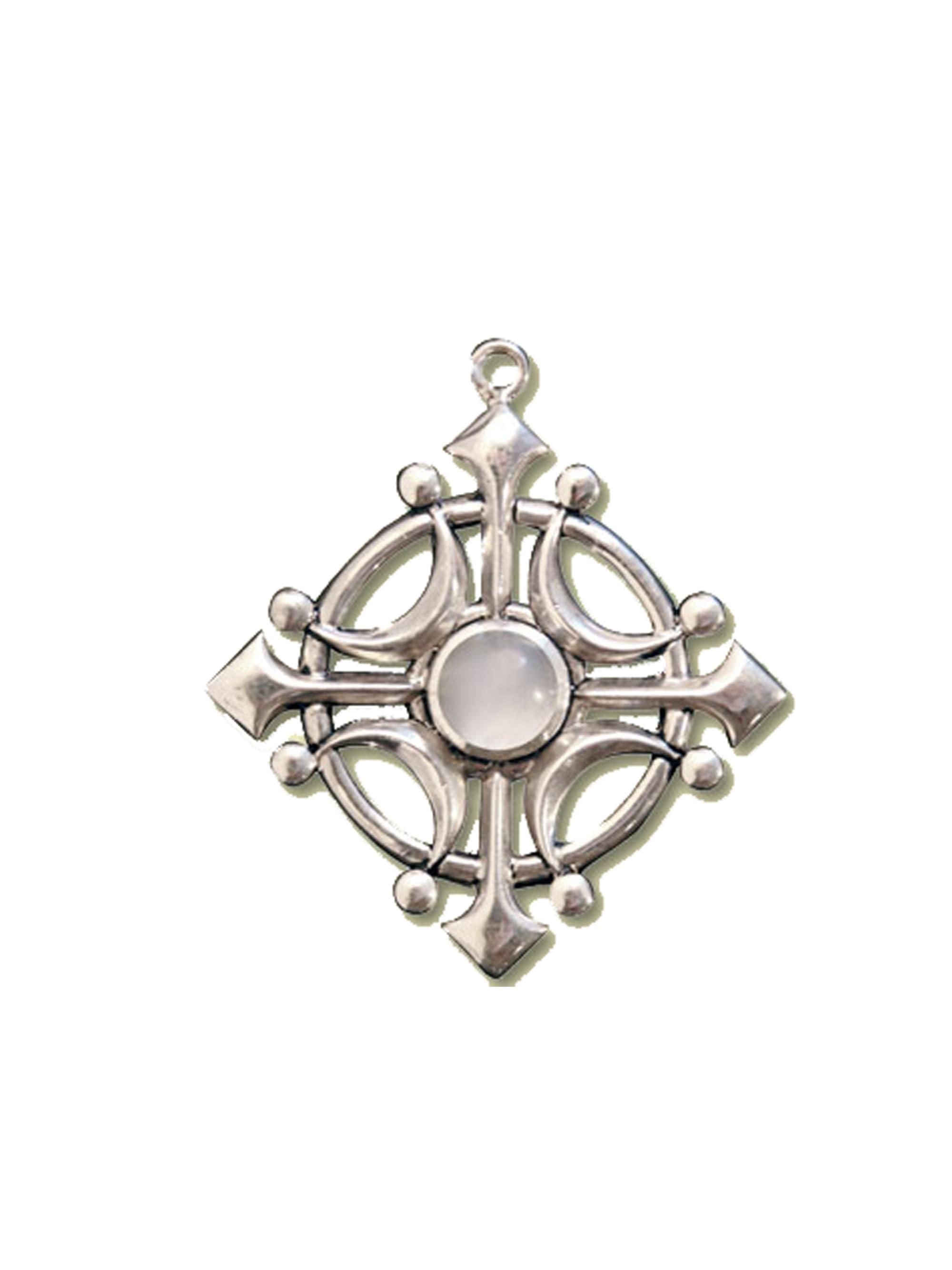 1001 Diamonds Anhänger Amulett Selene's Glaive Talisman mit Mondstein - Für Intuition UdlA4