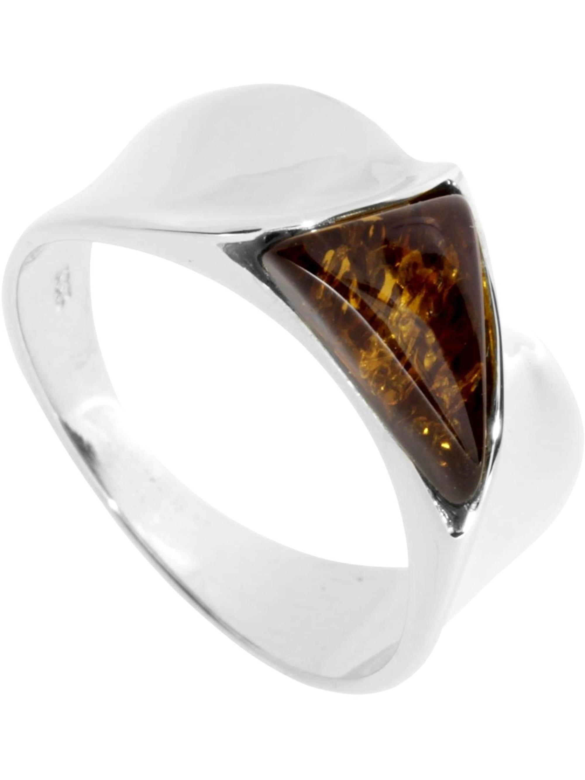 OSTSEE-SCHMUCK Ring Alisca Silber 925/000 Bernstein knOV5