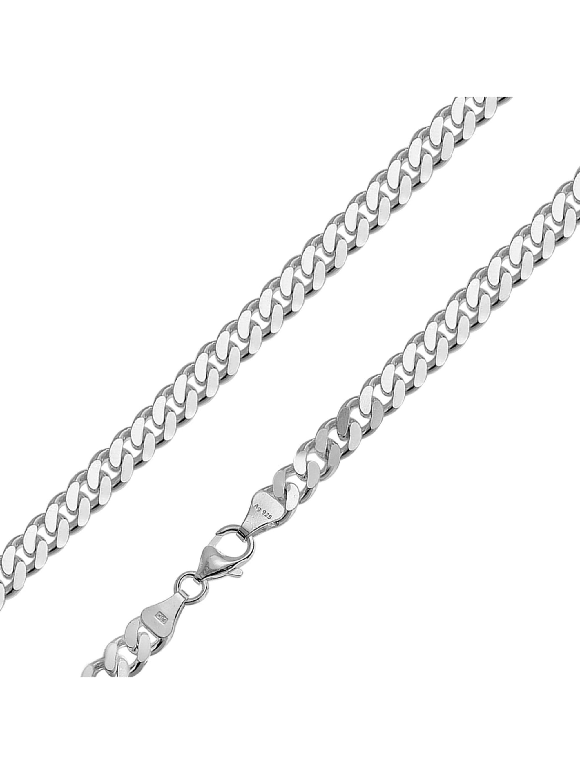 trendor Halskette für Männer 925 Silber Flachpanzer Breite 6,9 mm W3KGg