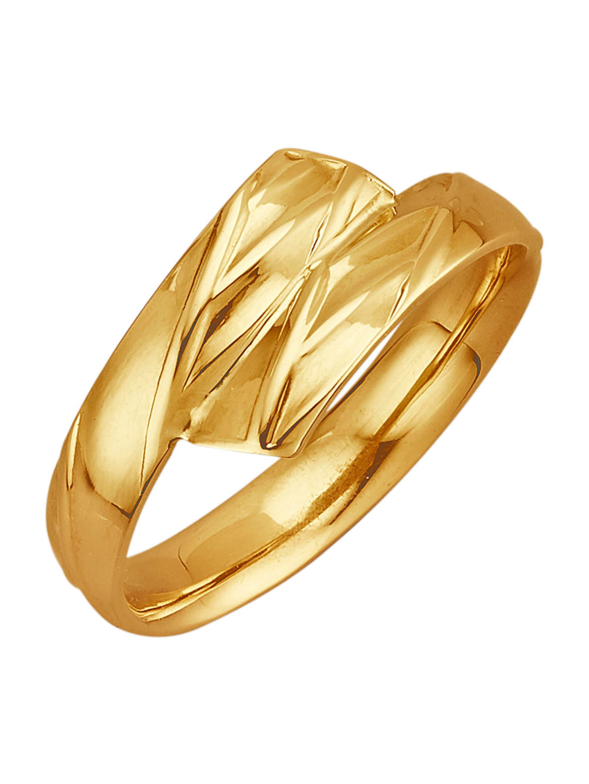 Damenring in Gelbgold 375 uj504