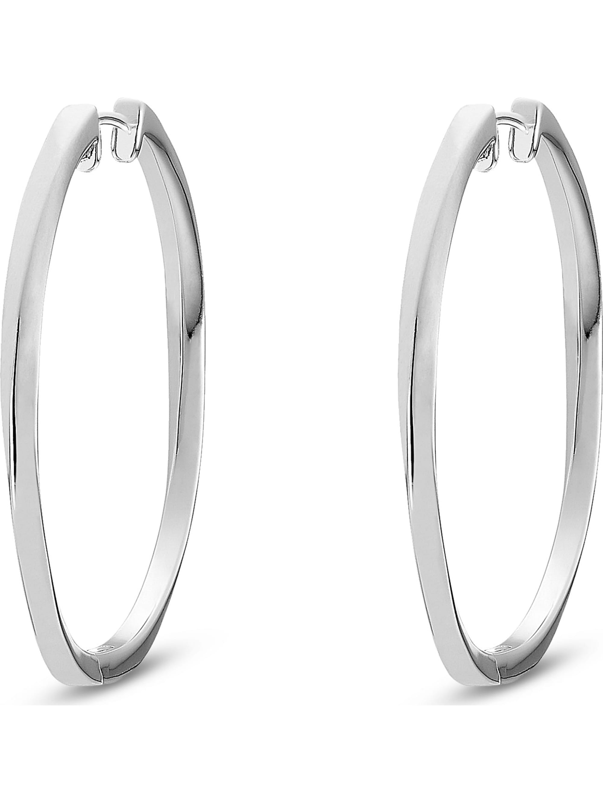 Jette JETTE Silver Damen-Creolen 925er Silber 7x5q6
