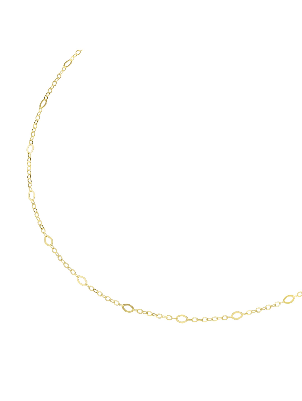 Luigi Merano Kette offene, rautenförmige Glieder, Gold 375 PZR0F