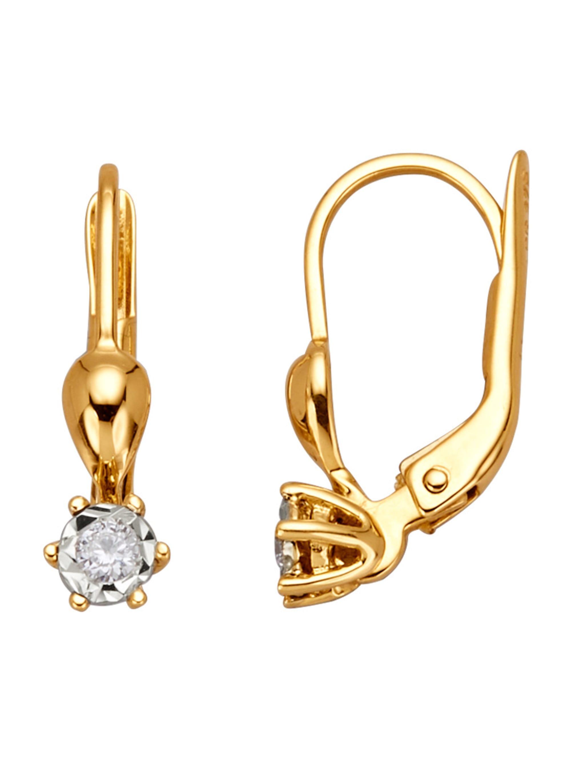 Ohrringe mit Diamanten pu2Mf