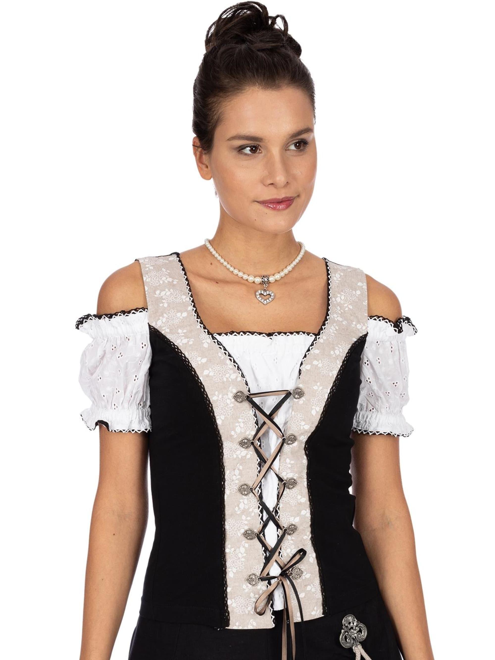 Marjo Landhaus Shirt ELISA2 beige schwarz XCeUj UVajk