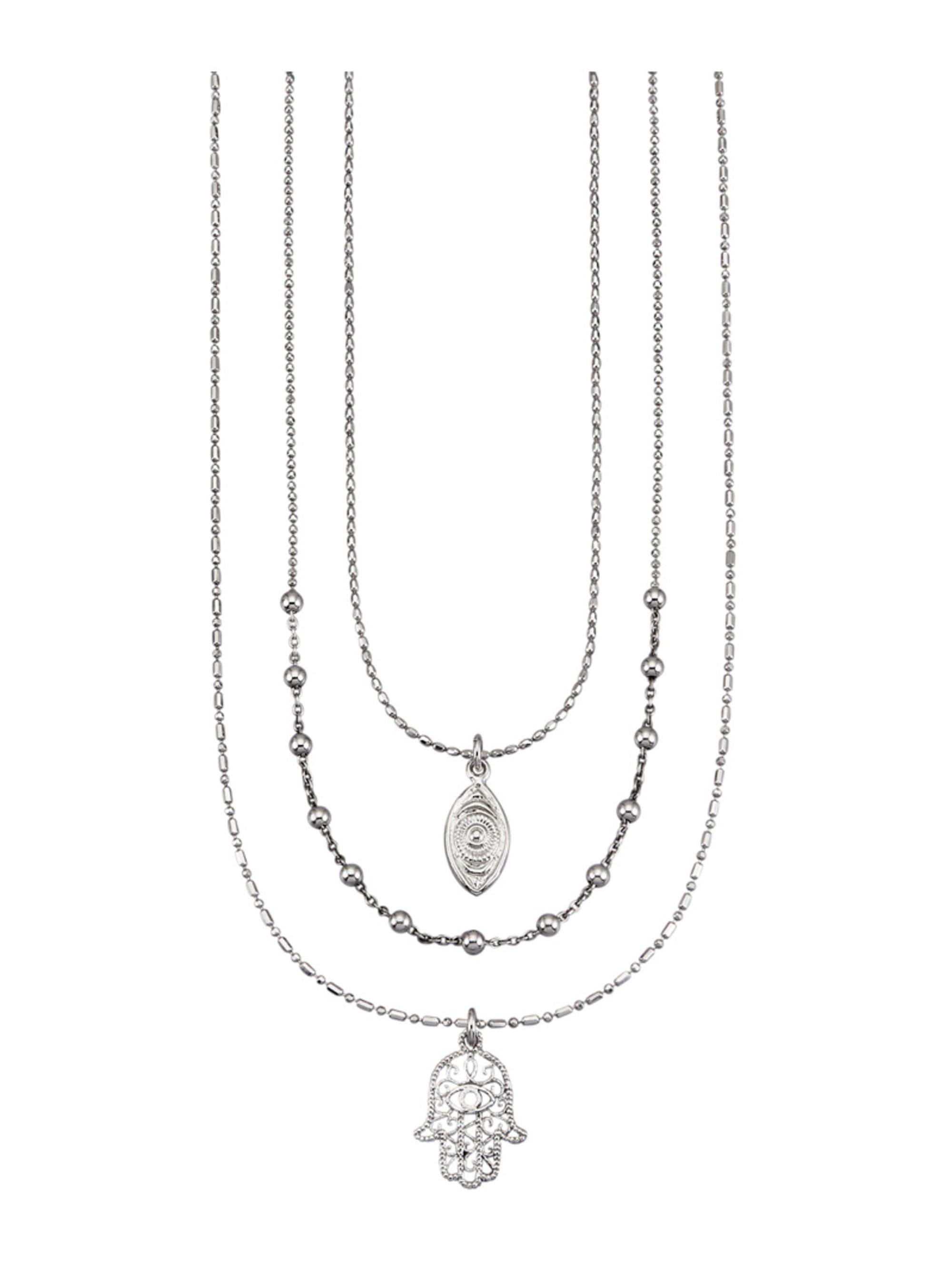 3rhg. Halsketten-Set in Silber 925 6TVXz