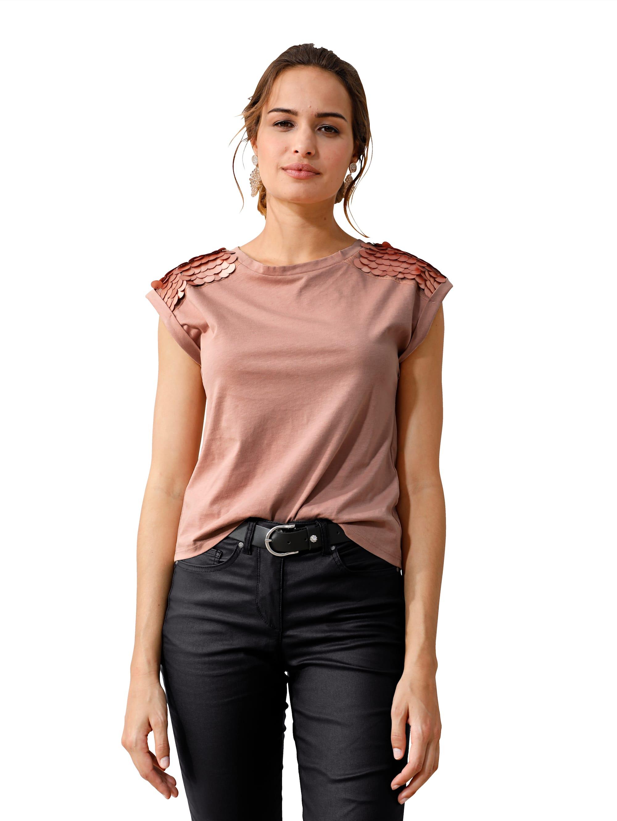 AMY VERMONT Shirt mit dekorativen Plättchen auf der Schulter 7YKQC XvEGl