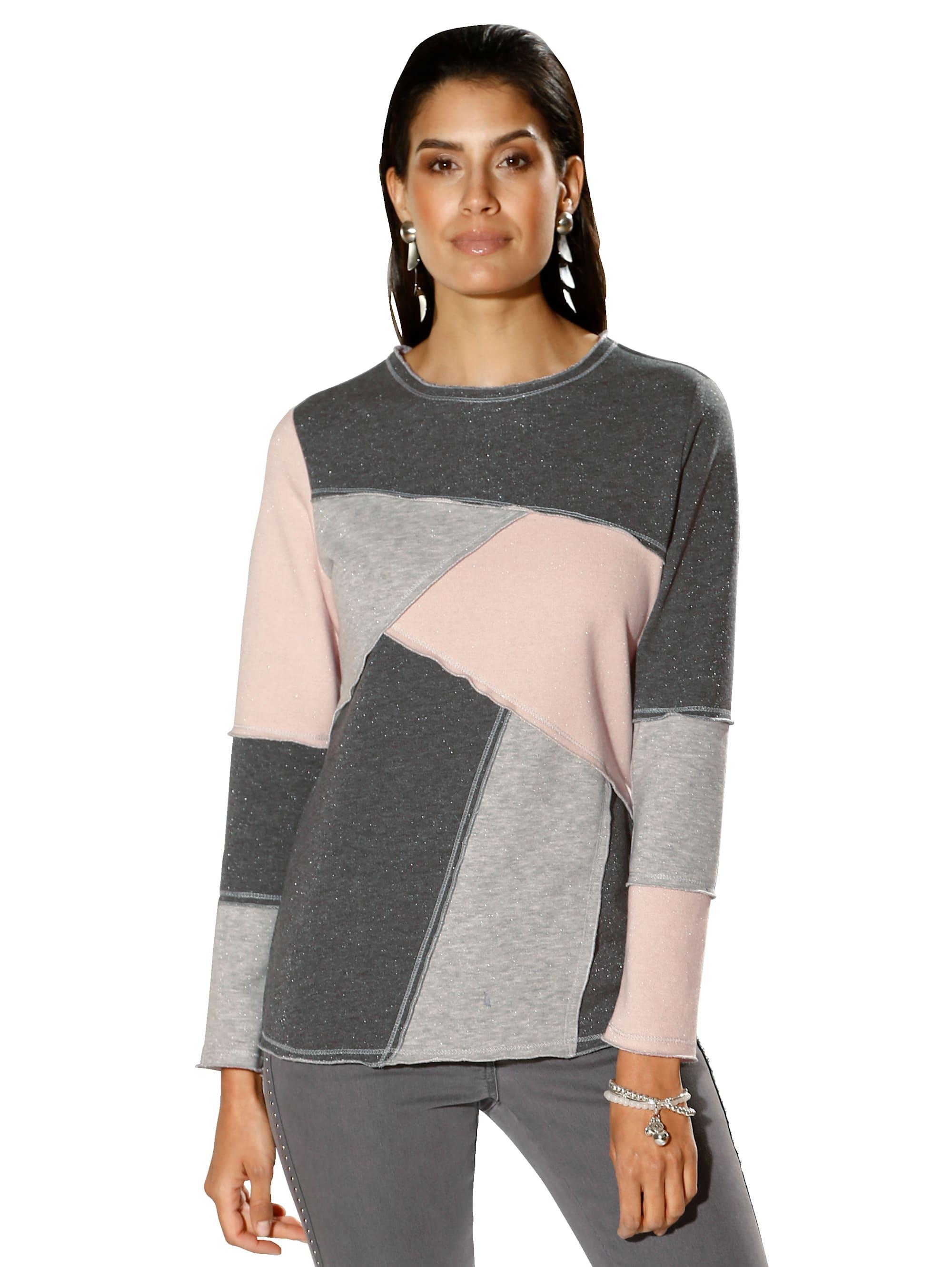 AMY VERMONT Sweatshirt mit metallisiertem Garn QEcjJ dwCpN