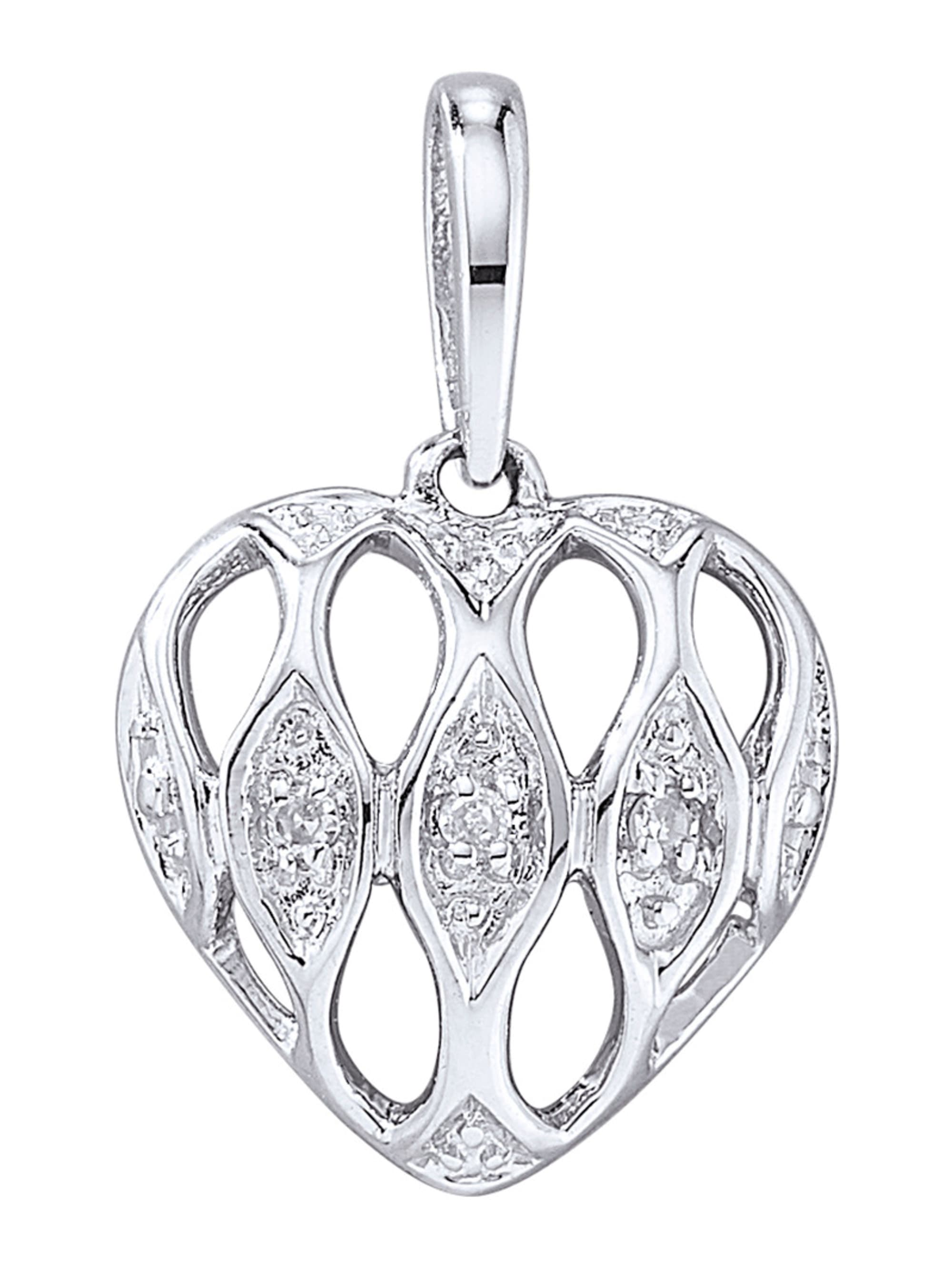 Herz-Anhänger mit Diamant IKAey