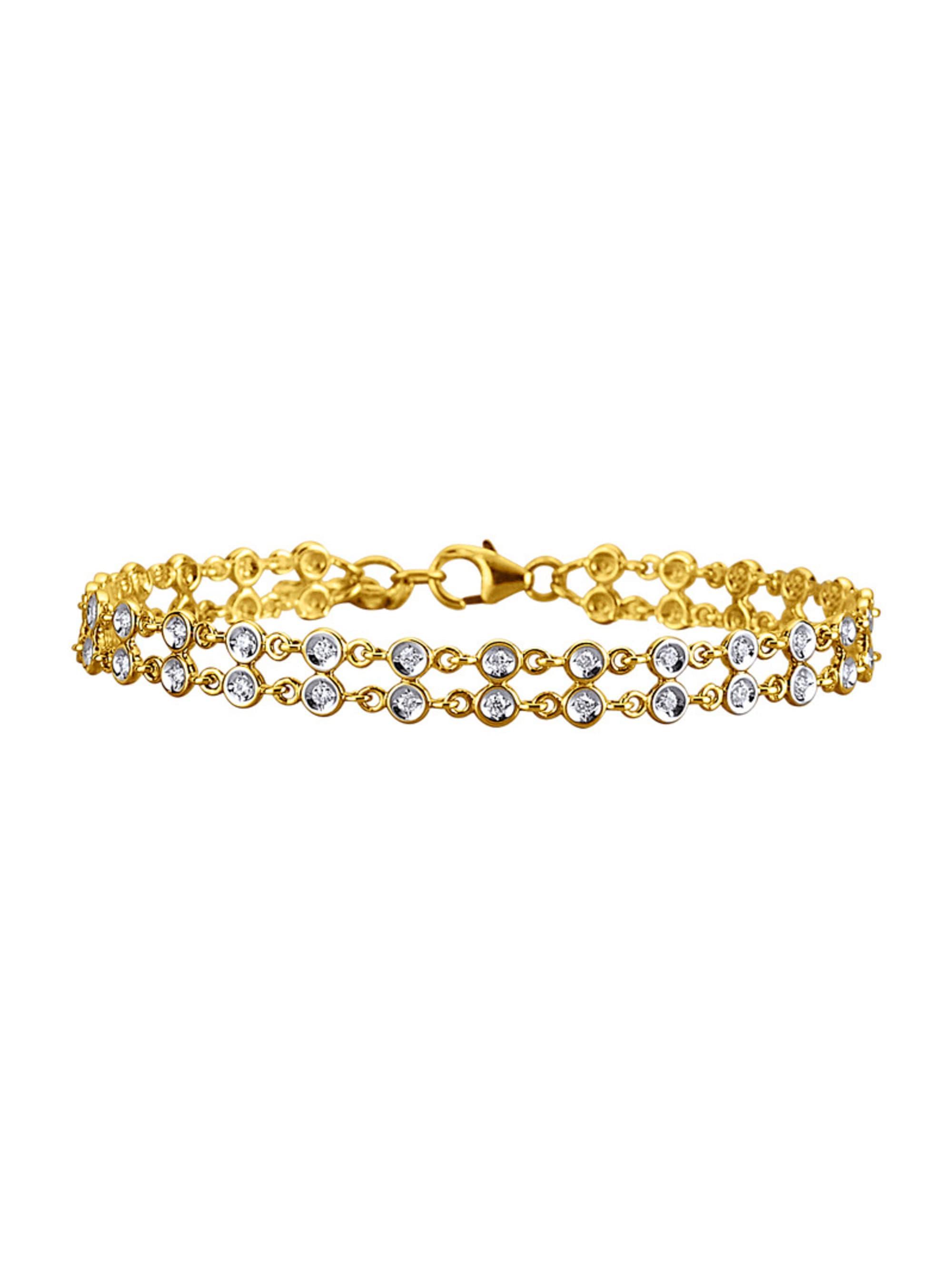 Diemer Diamant Armband mit 50 Brillanten oucbd
