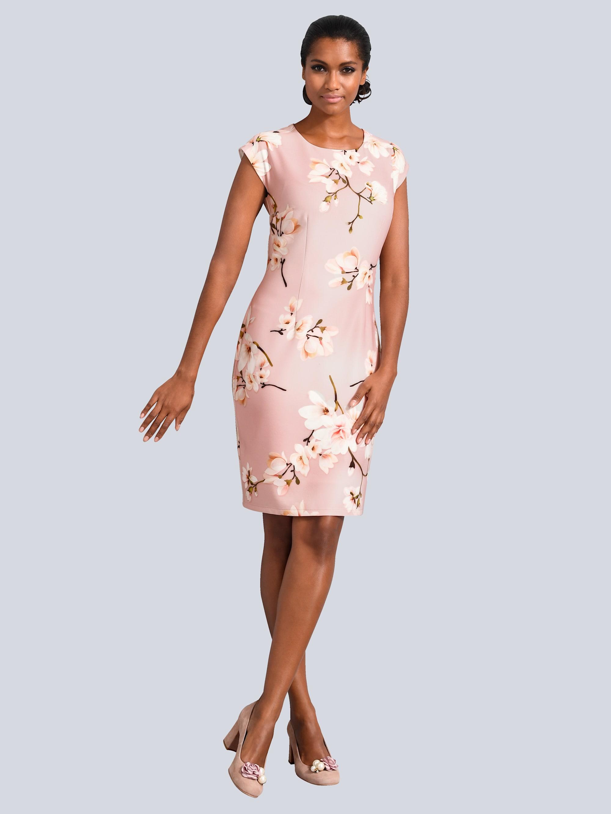 Alba Moda Kleid allover im floralen Dessin Xzoyv M1yRd
