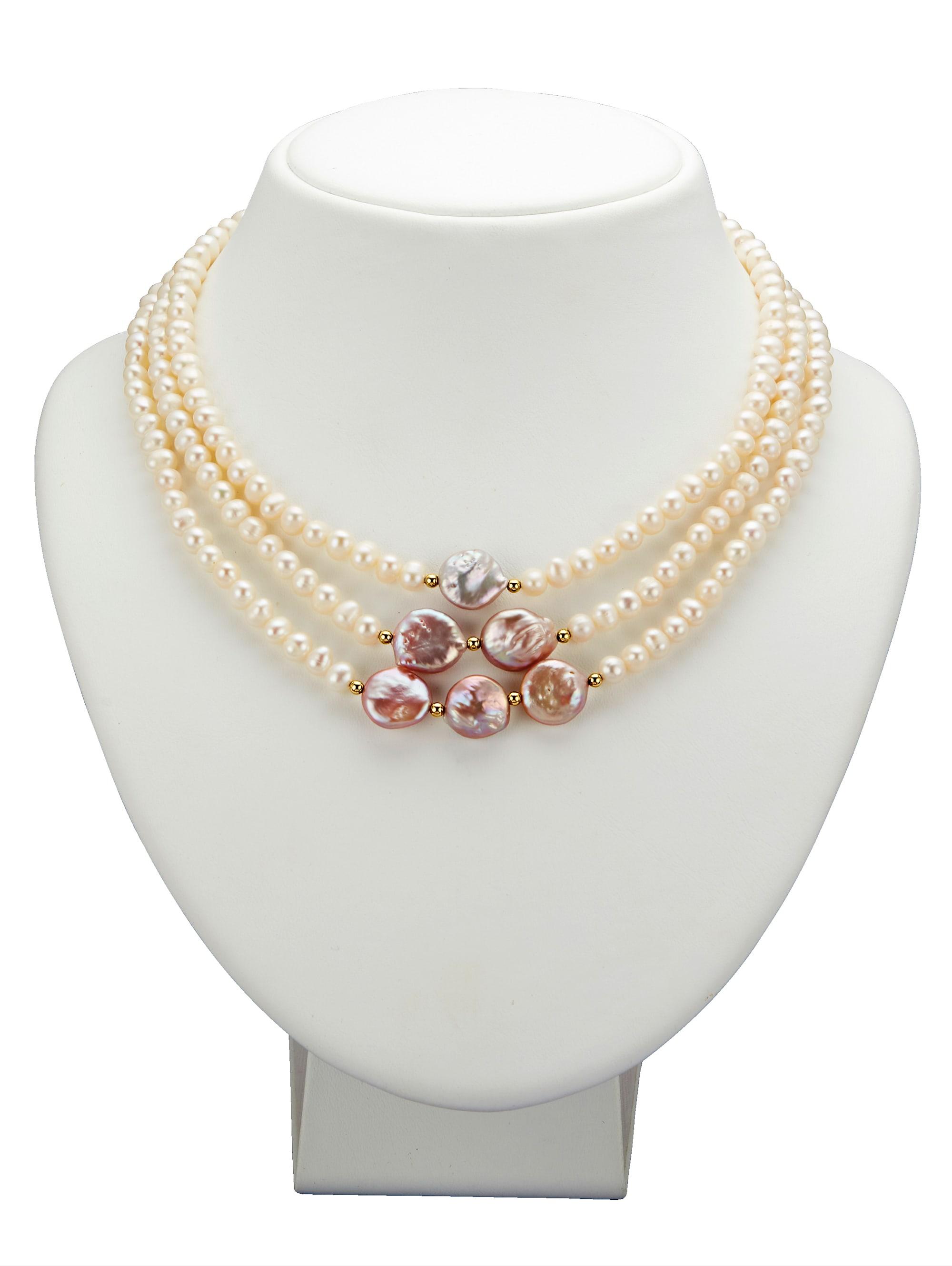 Diemer Perle 3rhg. Collier Dan63