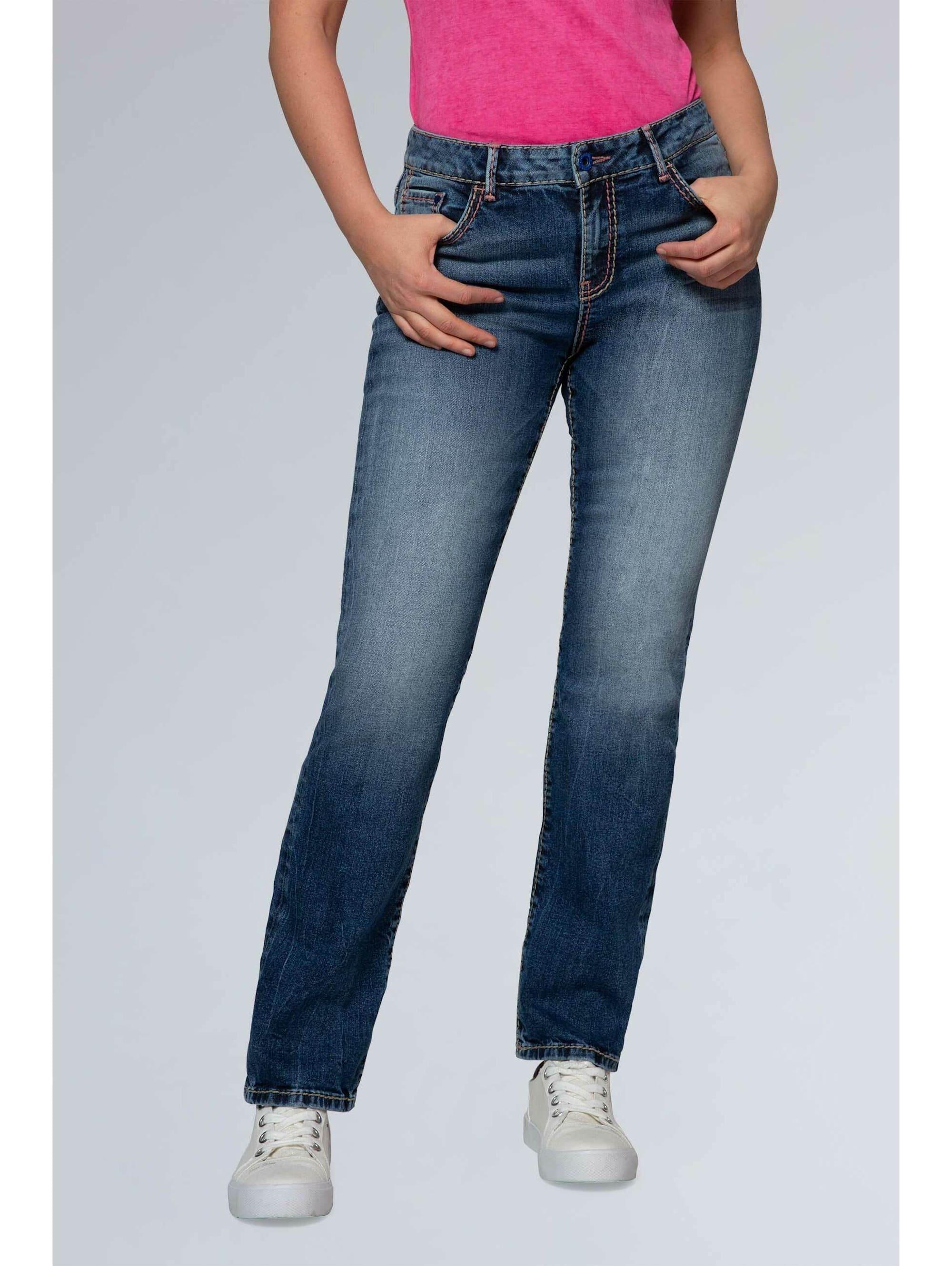 SOCCX Comfort Shape Jeans EL:KE im Stone Used Look WzfAD KsZqH