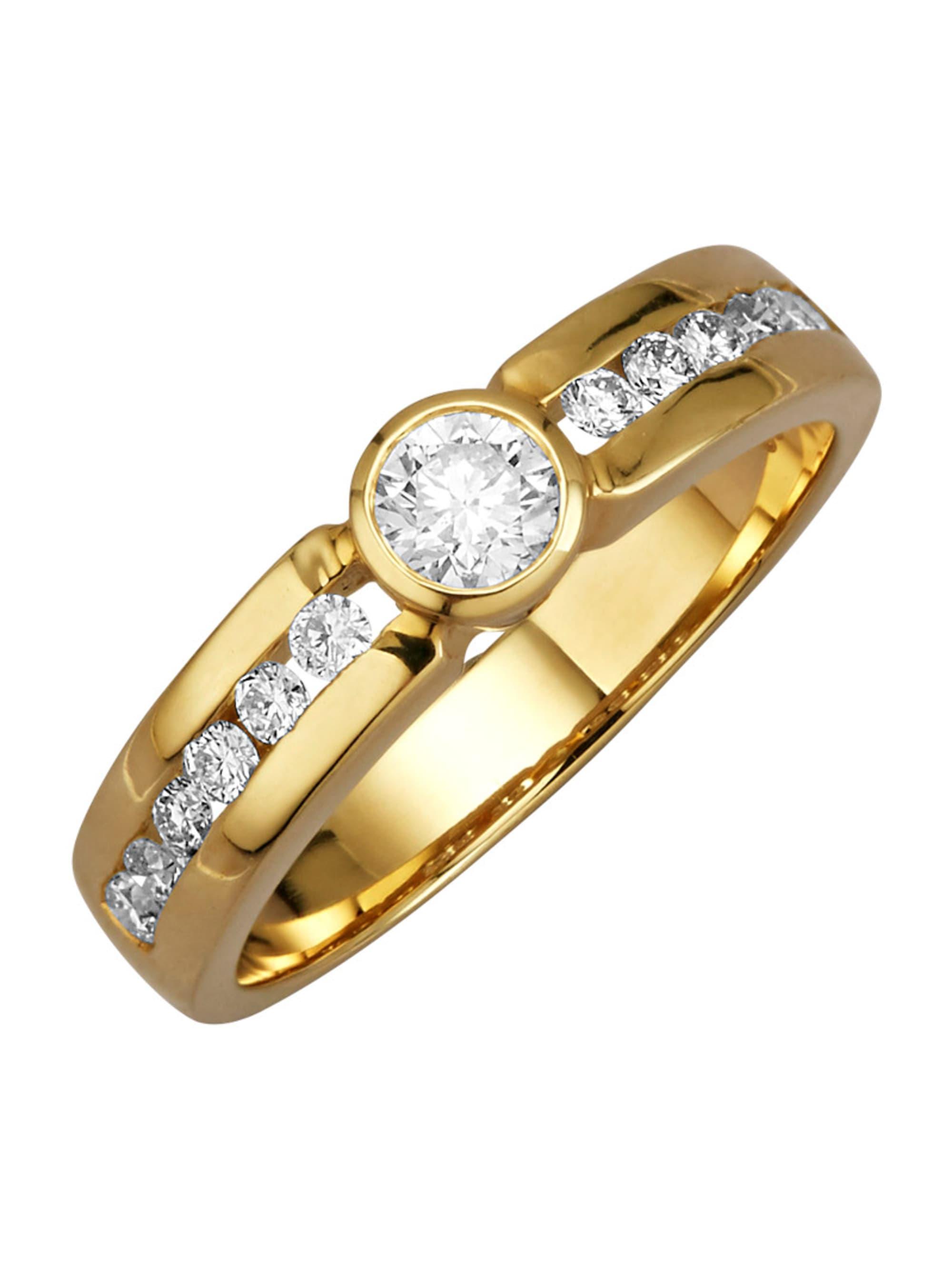 Diemer Diamant Damenring mit Brillanten iReFa