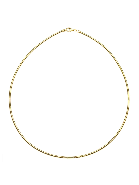 OSTSEE-SCHMUCK Halsreif Omega 2,2 mm Silber 925/000, vergoldet , MO9Ny