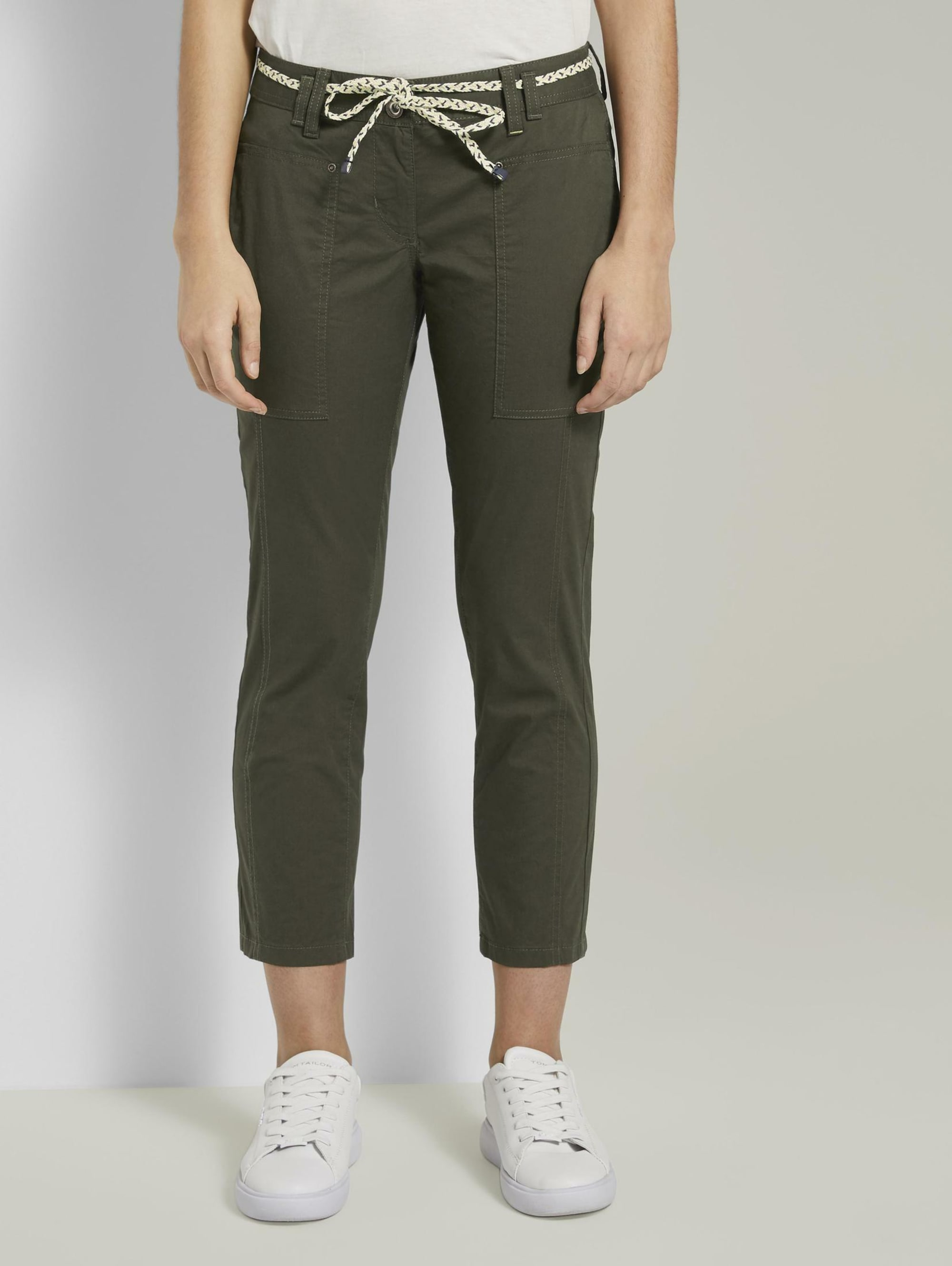 Tom Tailor Tapered Relaxed Hose mit Bandgürtel Wi9Zv ng2oY