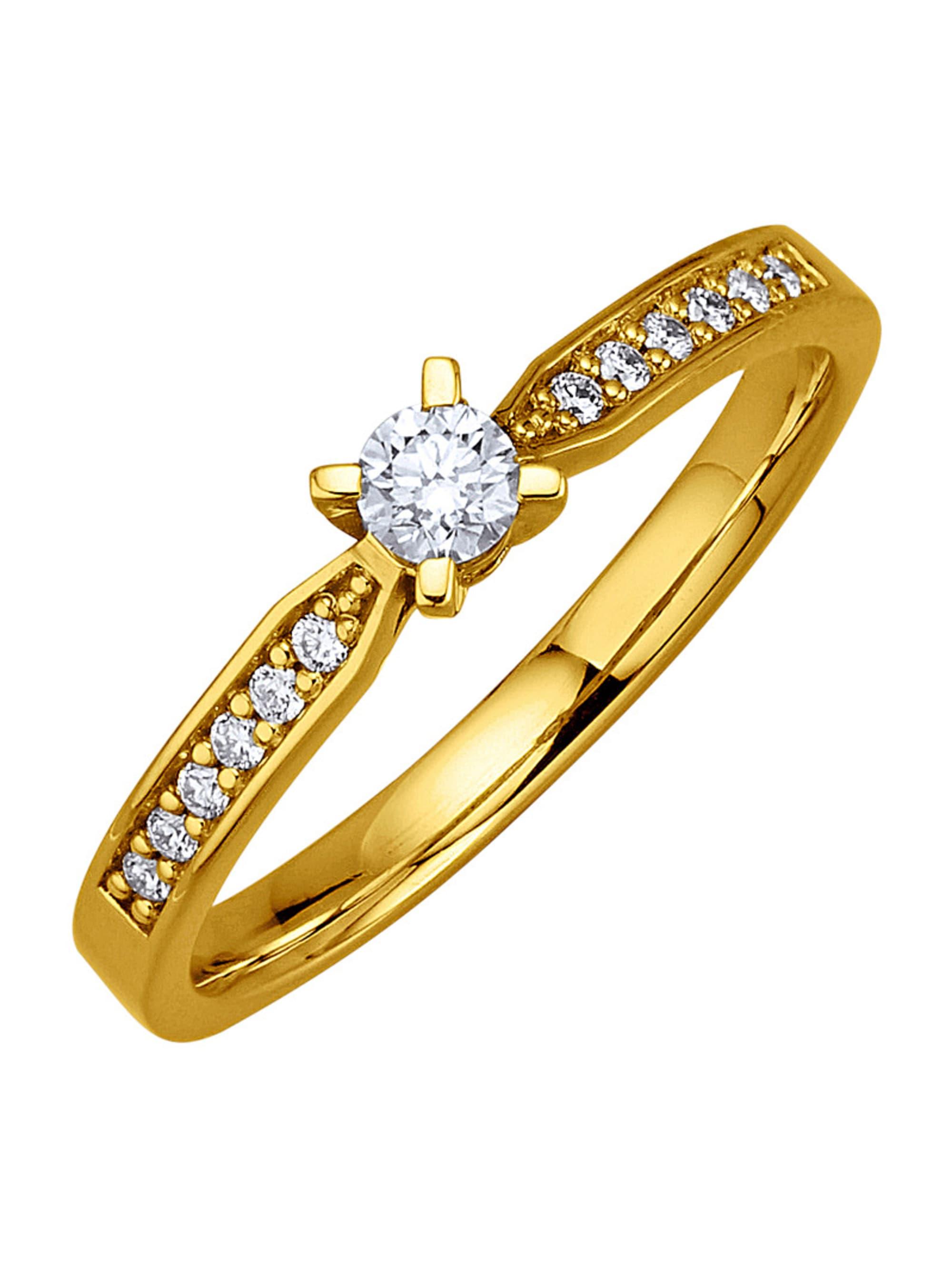 Diemer Diamant Damenring mit Brillanten khtvd
