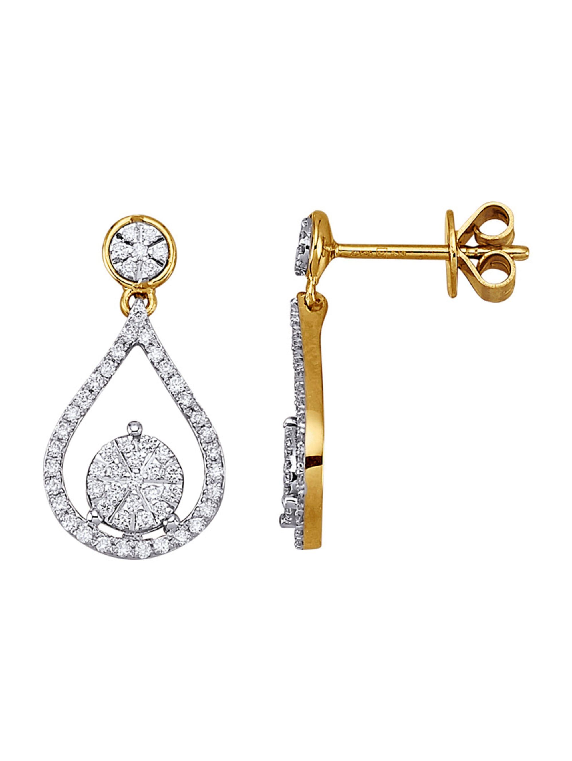 Diemer Diamant Ohrringe mit Brillanten GKkqq