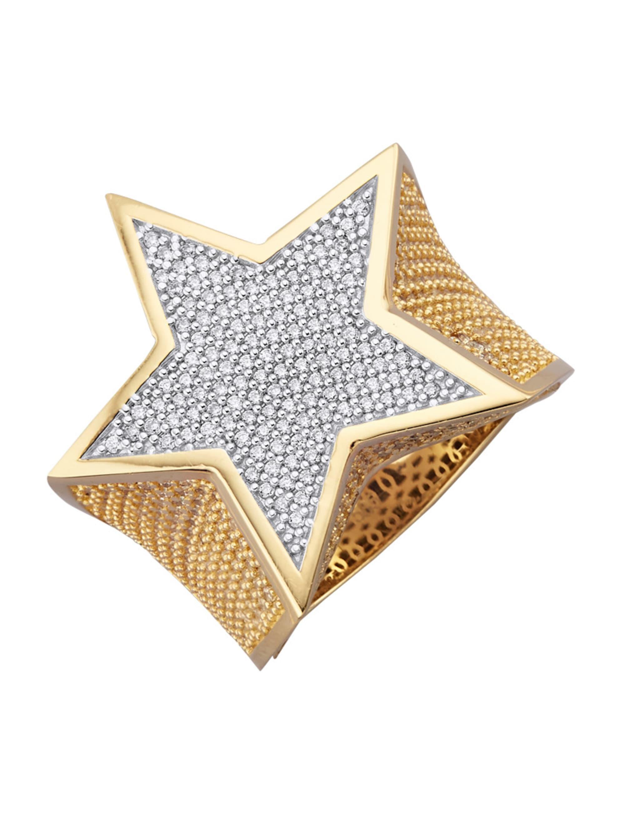 Diemer Gold Stern-Ring N9SPJ