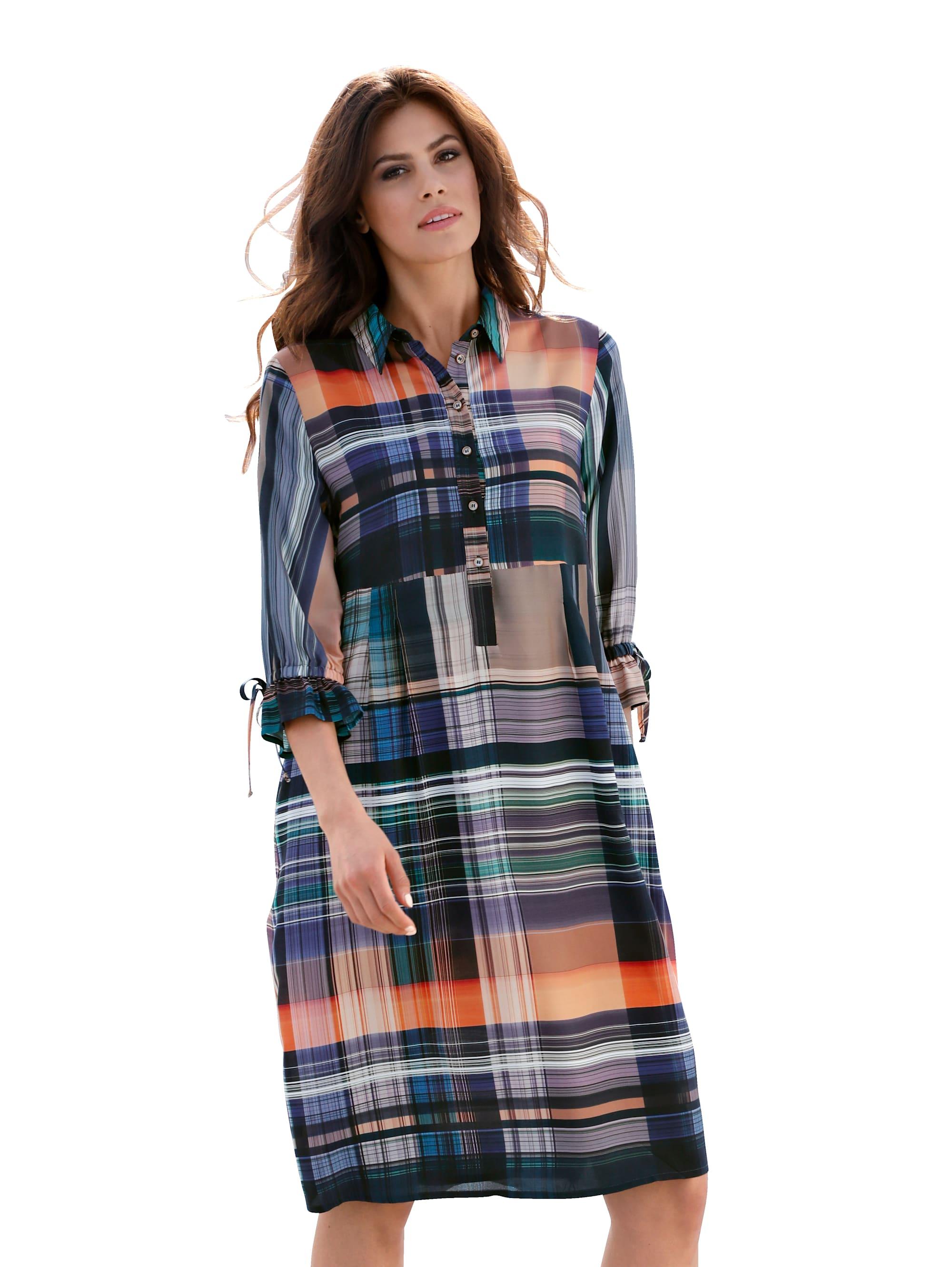 AMY VERMONT Kleid mit modischem Karomuster oHhAf muI0C