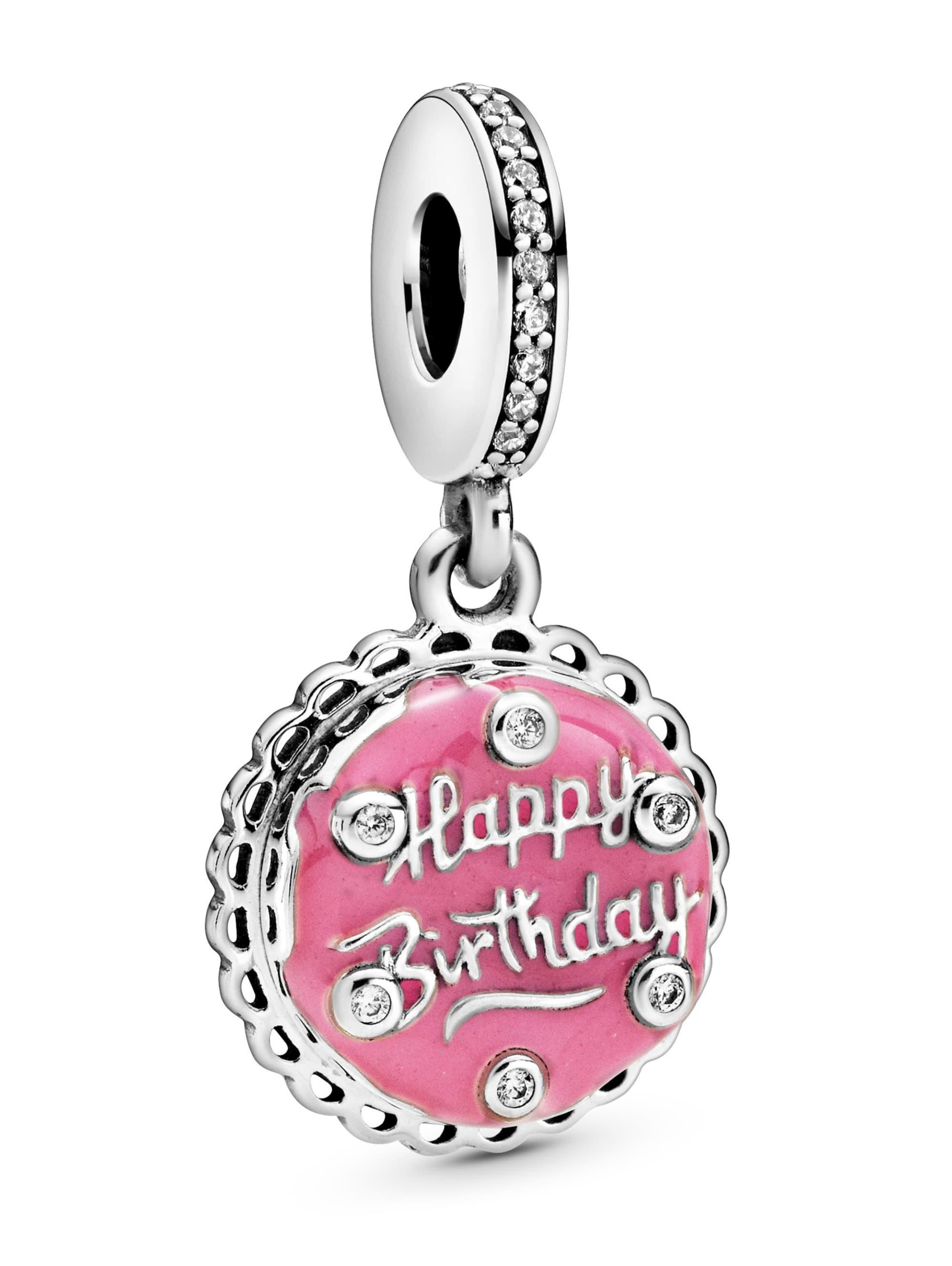 Pandora Charm-Anhänger -Pinkfarbener Geburtstagskuchen- 798888C01 Tvlrb