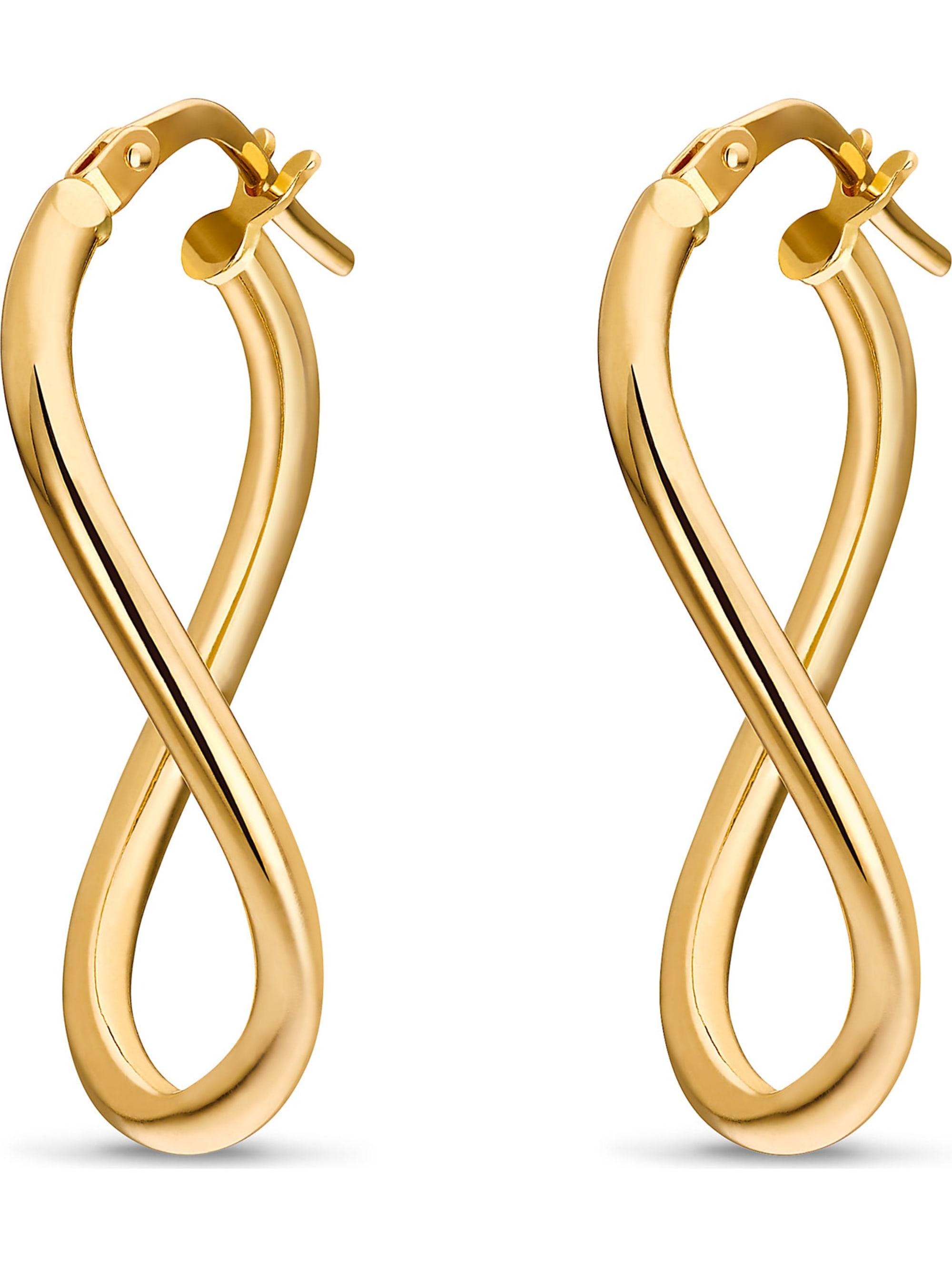 CHRIST GOLD CHRIST Gold Damen-Creolen 375er Gelbgold XmphV