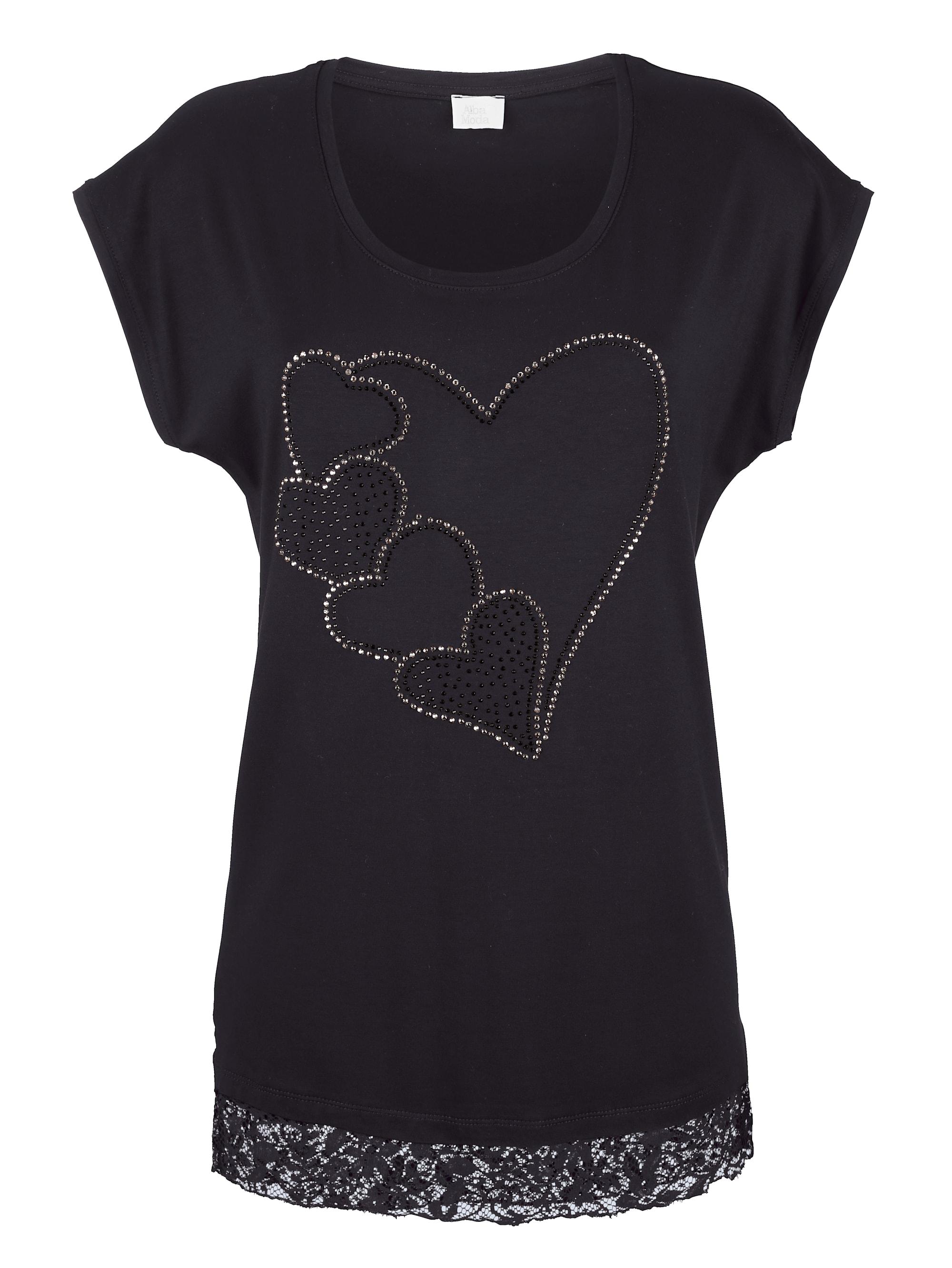 Alba Moda Shirt mit Herzmotiv QgcWl HqF0E