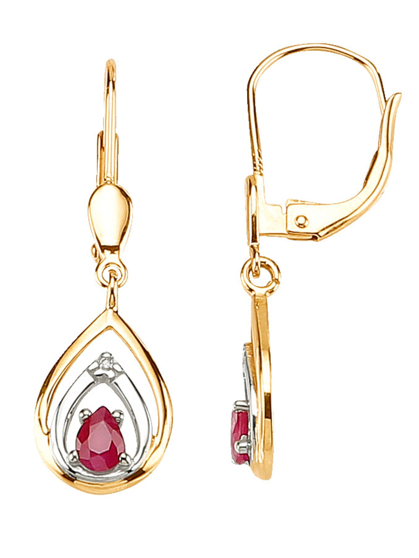 Ohrringe mit Rubinen und Diamanten cj78X