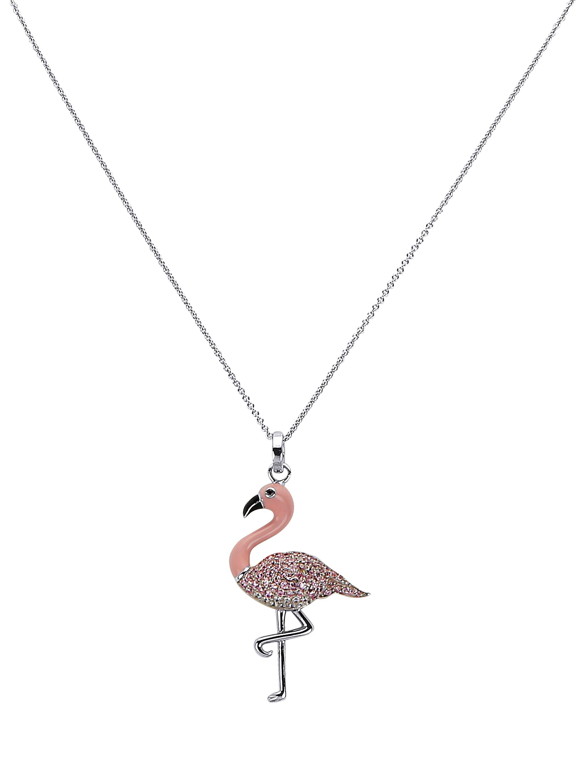 Flamingo-Anhänger mit Kette veUKz