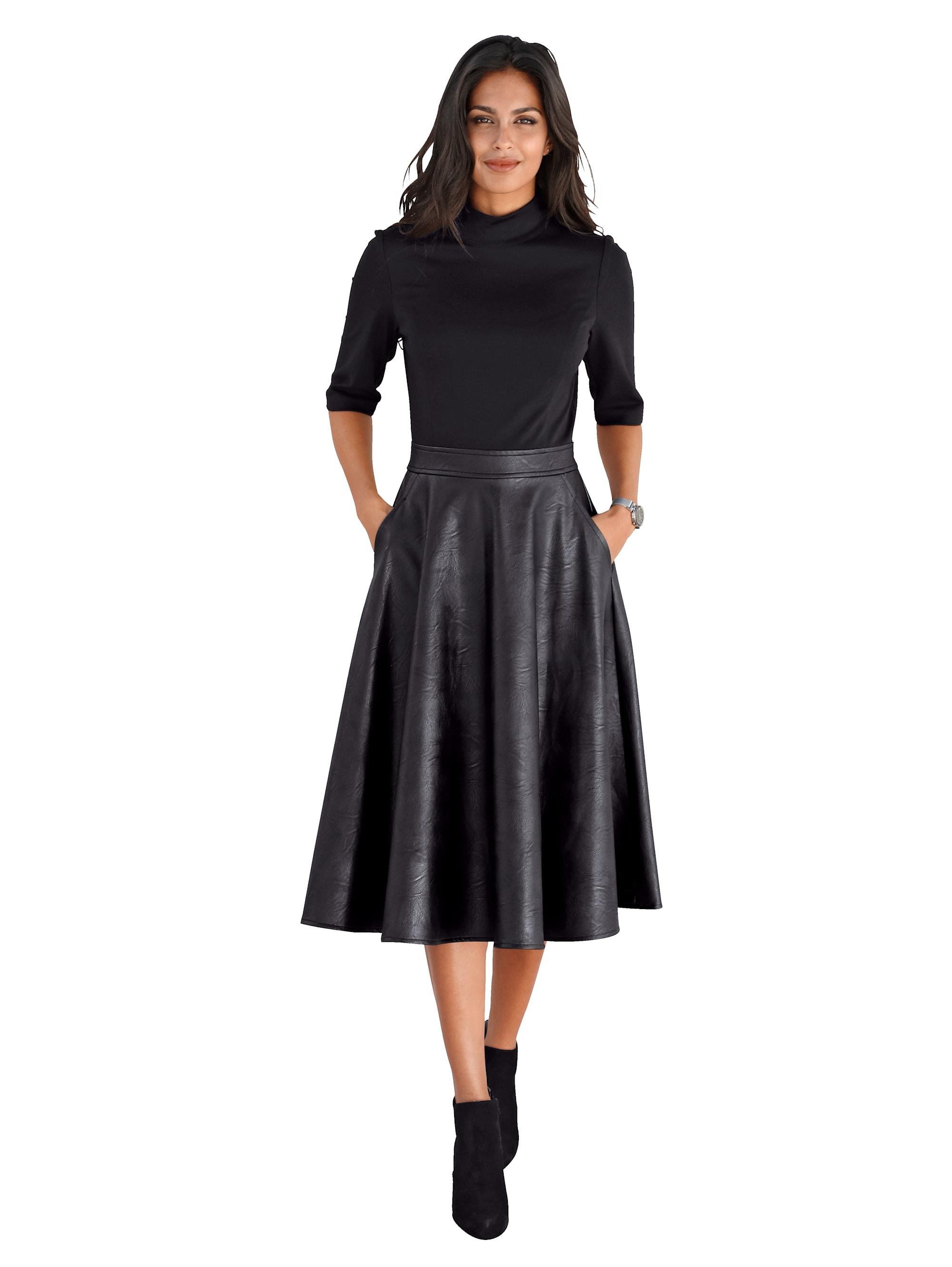 AMY VERMONT Kleid mit Rockteil aus Lederimitat BJ8h3 8A9Xw