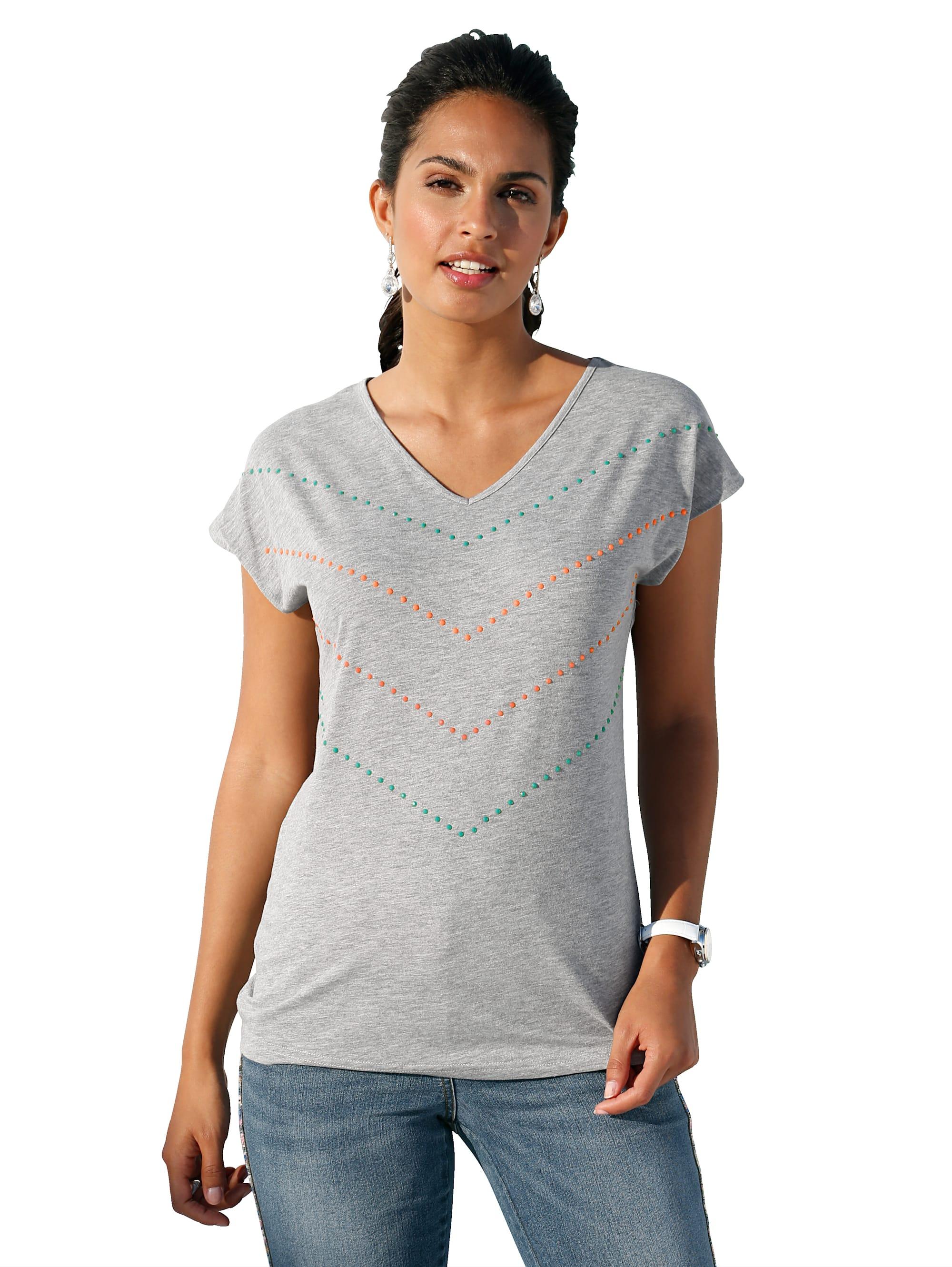 AMY VERMONT Shirt mit Strasssteindekoration J7PYZ qkrkq