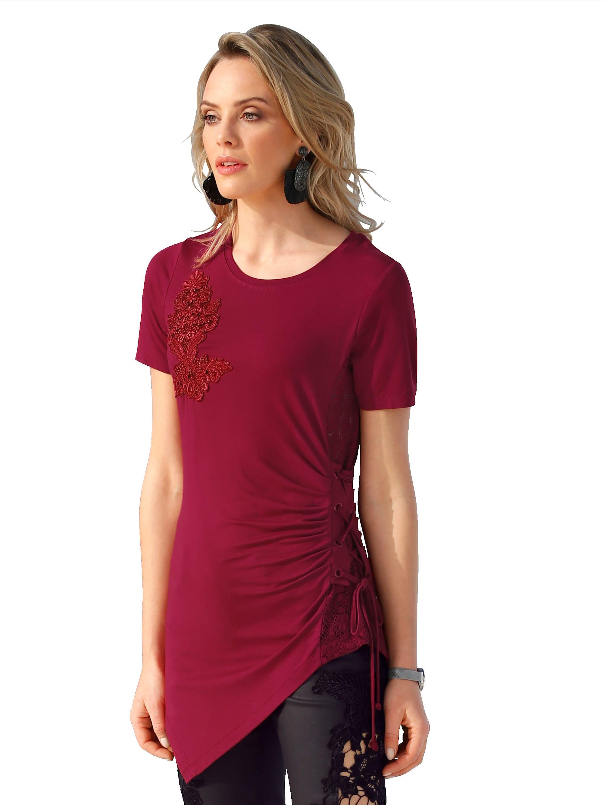 AMY VERMONT Shirt mit transparentem Spitzeneinsatz hk0Ij Iz5KX