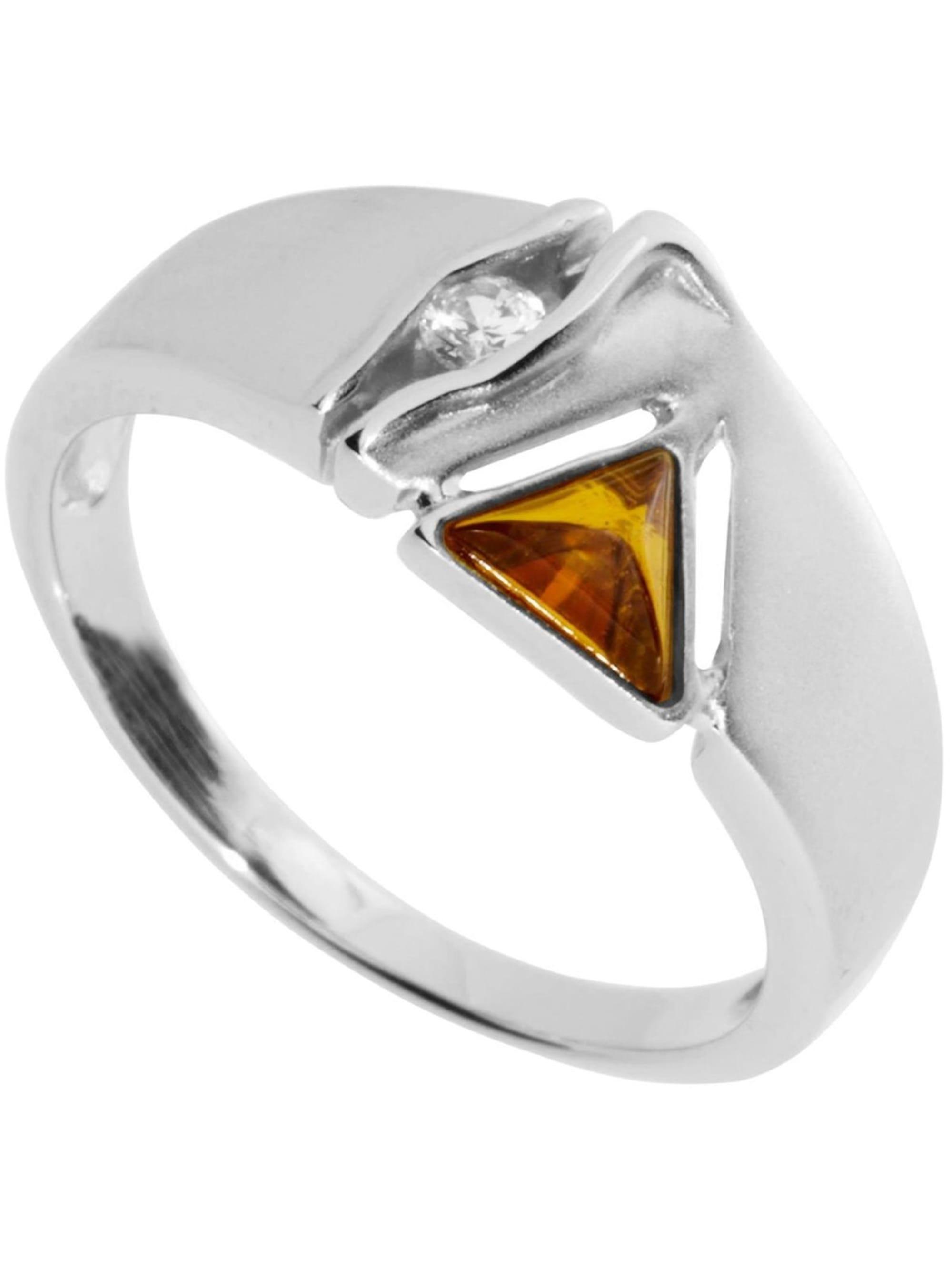 OSTSEE-SCHMUCK Ring Benita Silber 925/000 Bernstein HpBdv