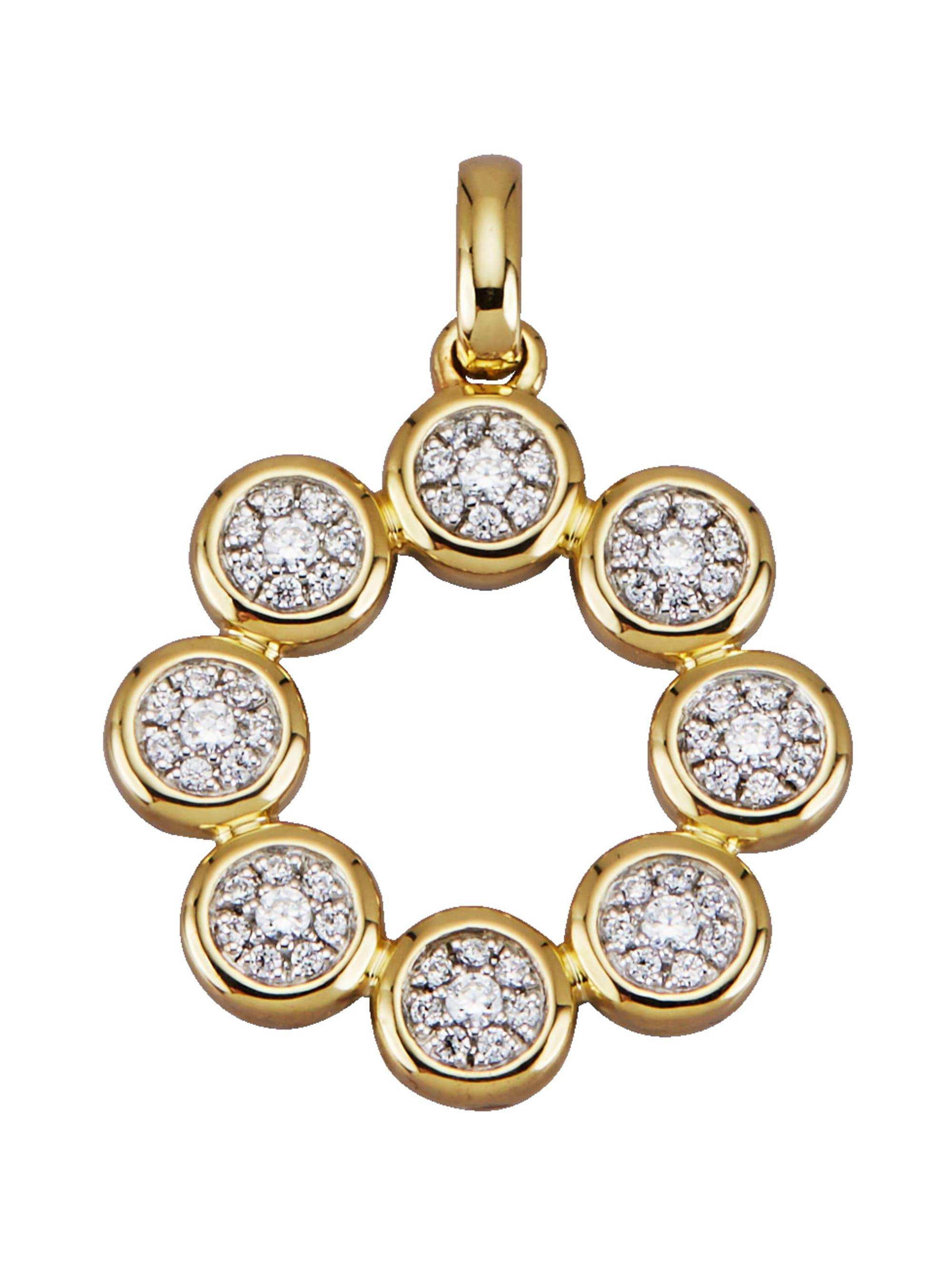 Diemer Diamant Anhänger mit Brillanten hJPOq