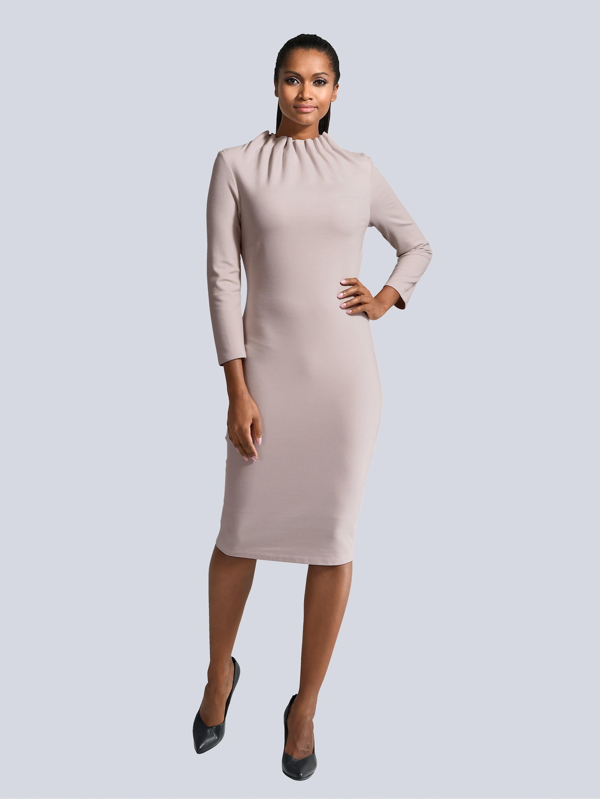 Alba Moda Kleid mit gerafftem Stehkragen ADOwZ KBev7