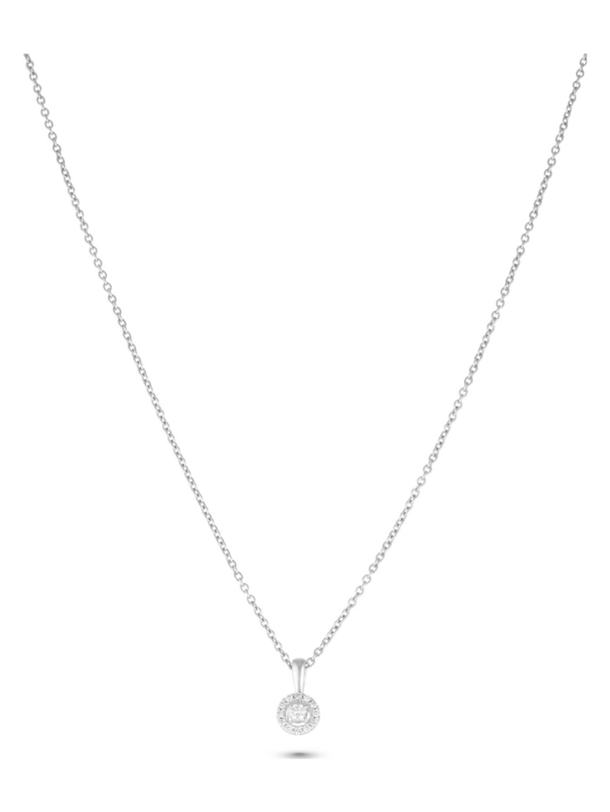 CHRIST Diamonds CHRIST Diamonds Damen-Kette 375er Weißgold 13 Diamant rYWMO