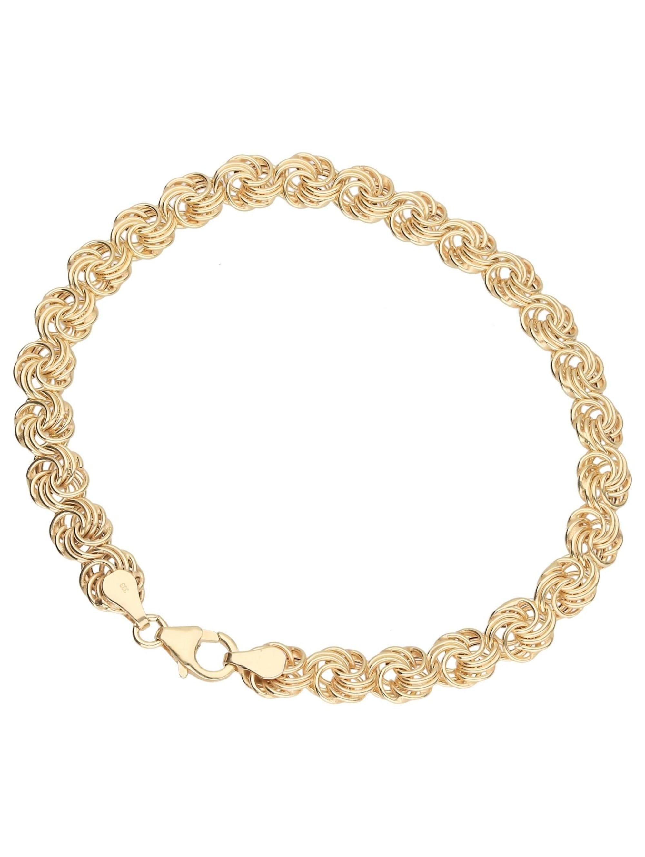 Luigi Merano Armband Rosenkette, Gold 333 vJ3cq
