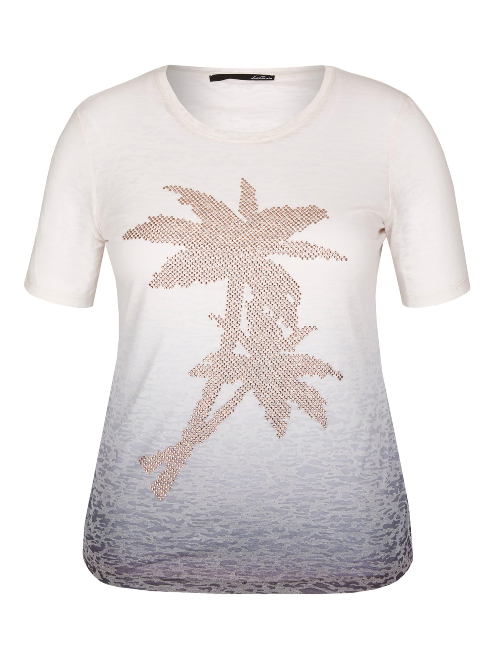 Le Comte Shirt in Dip-Dyed-Optik mit Ziersteinen 366OW baNCY
