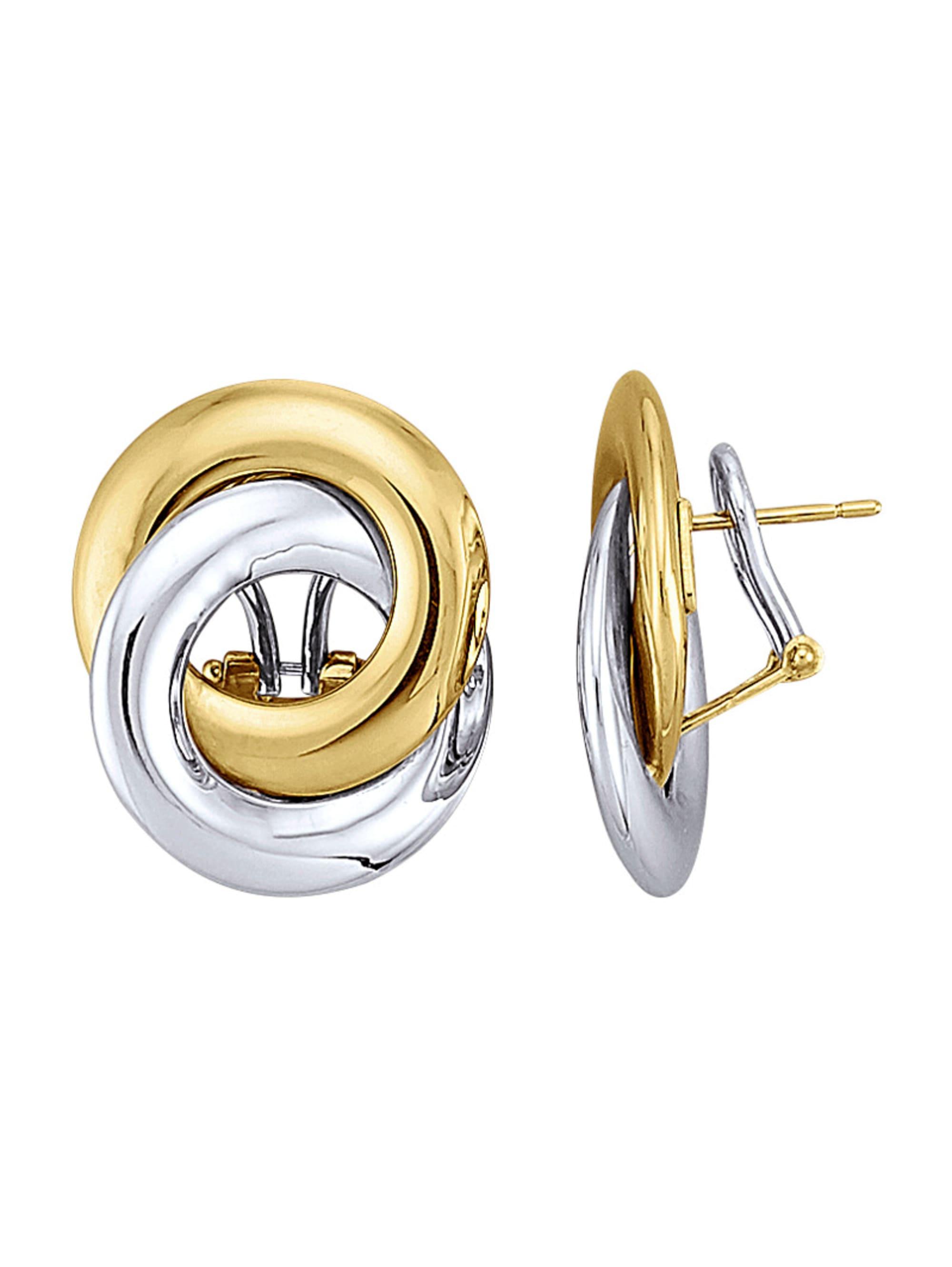 Diemer Gold Ohrstecker in Gelbgold 585 apDur