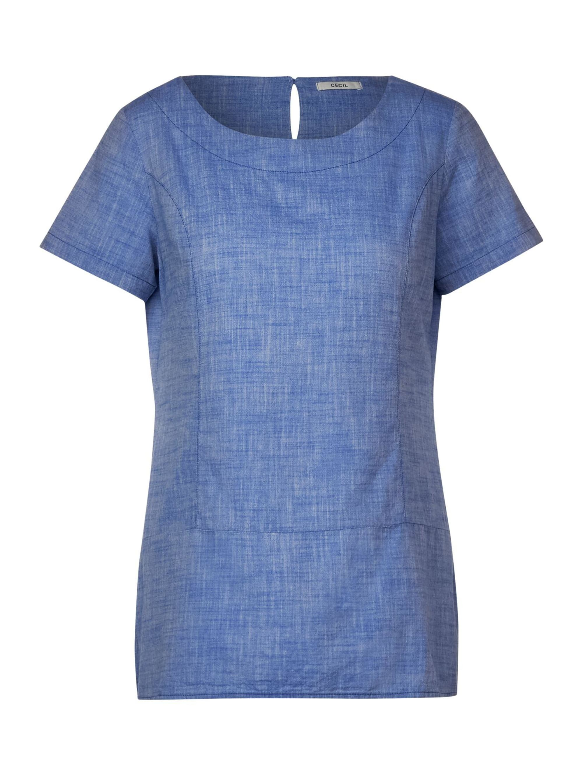 Cecil Chambray-Bluse mit Layering mit Layering-Look rYWMO pkmKR