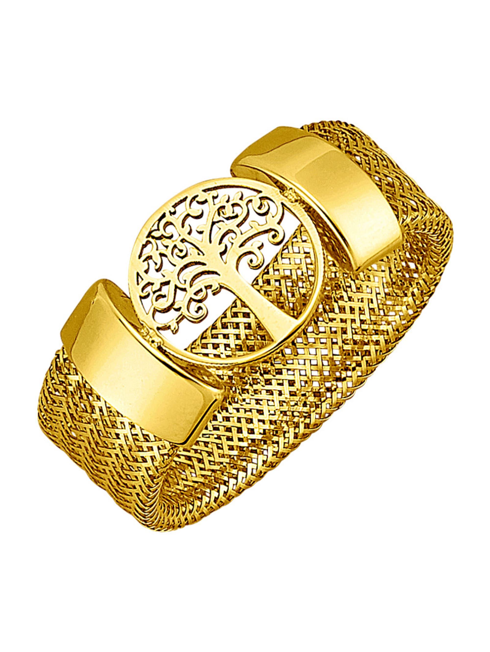 Mesh-Ring in Gelbgold 375 Im536
