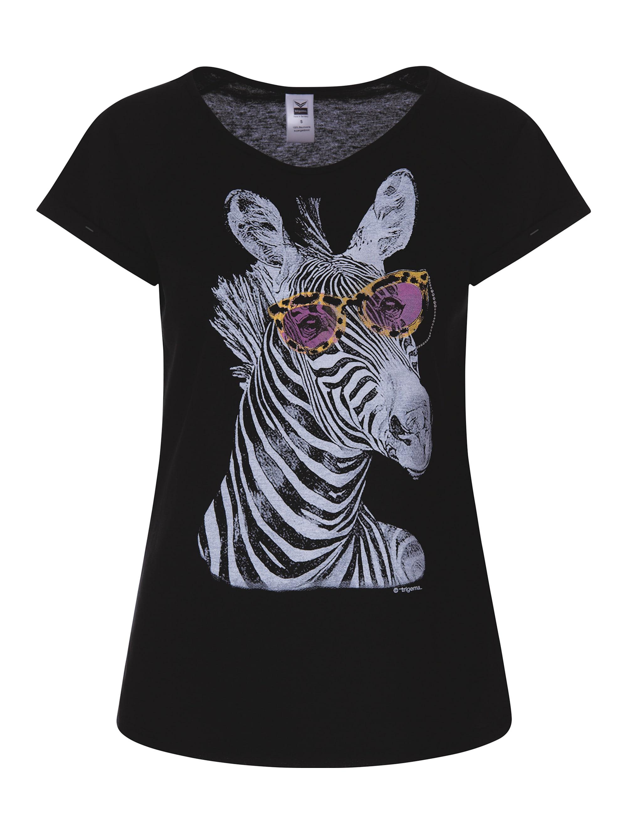 Trigema Damen T-Shirt mit lustigem Glitzer-Druckmotiv cjCWq 3J6fw