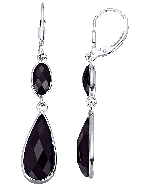 AMY VERMONT Ohrringe mit schwarzen Kristallen kQeKl