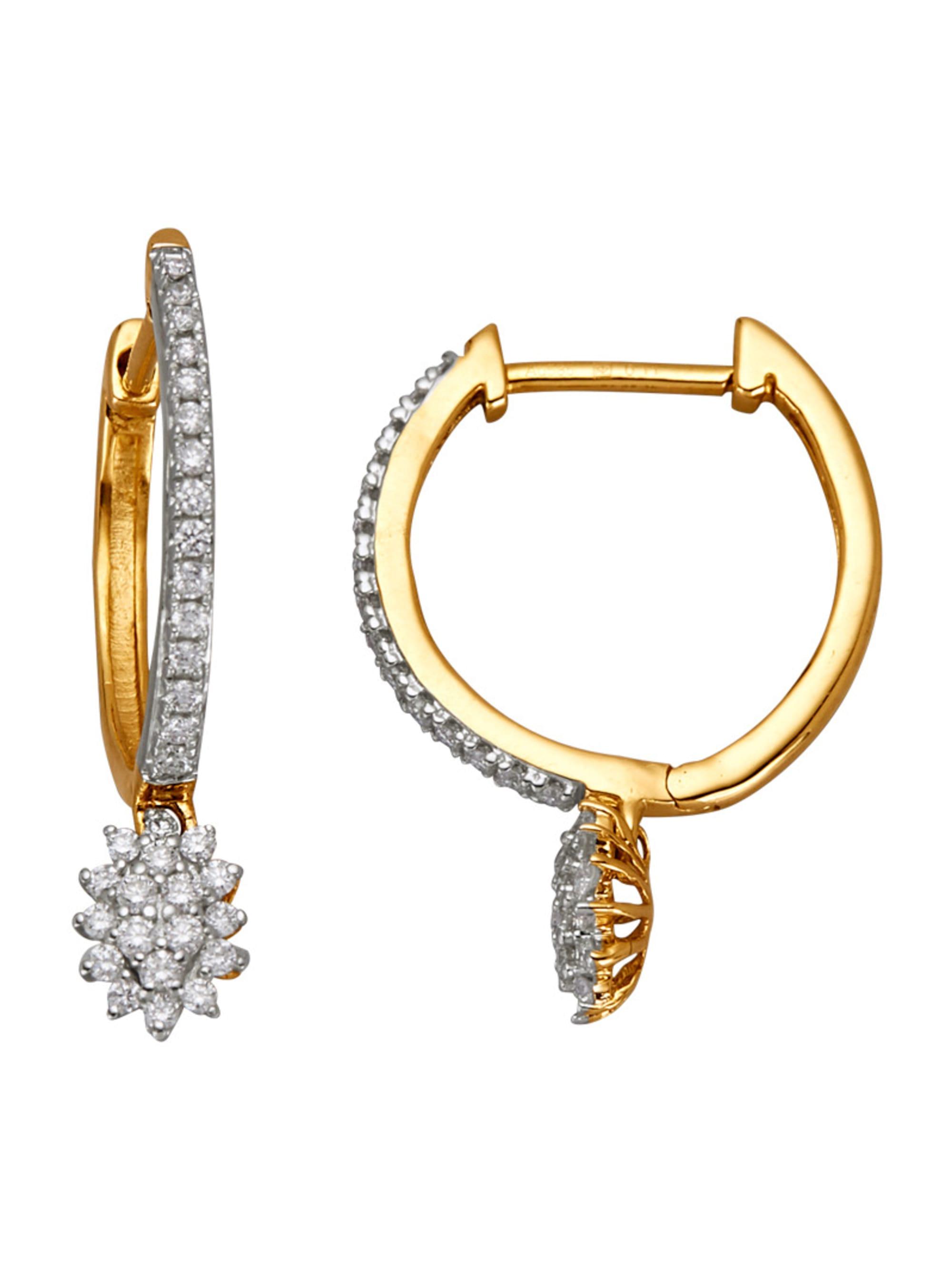Diemer Diamant Ohrringe mit Brillanten WWK38